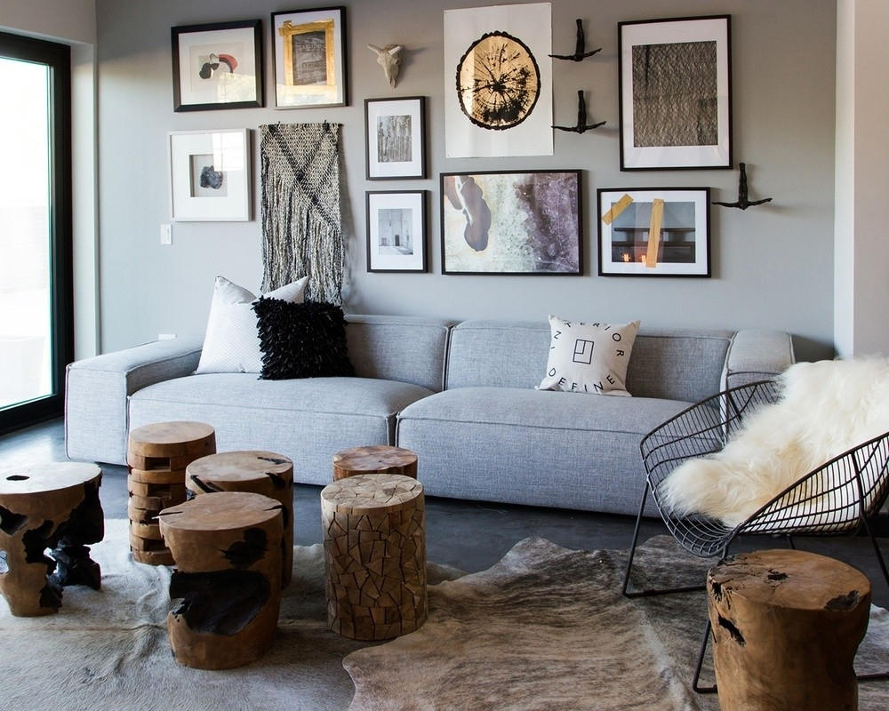 Gray Large Custom Sofa - Interior Define throughout Kristen Silver Grey 6 Piece Power Reclining Sectionals (Image 9 of 30)