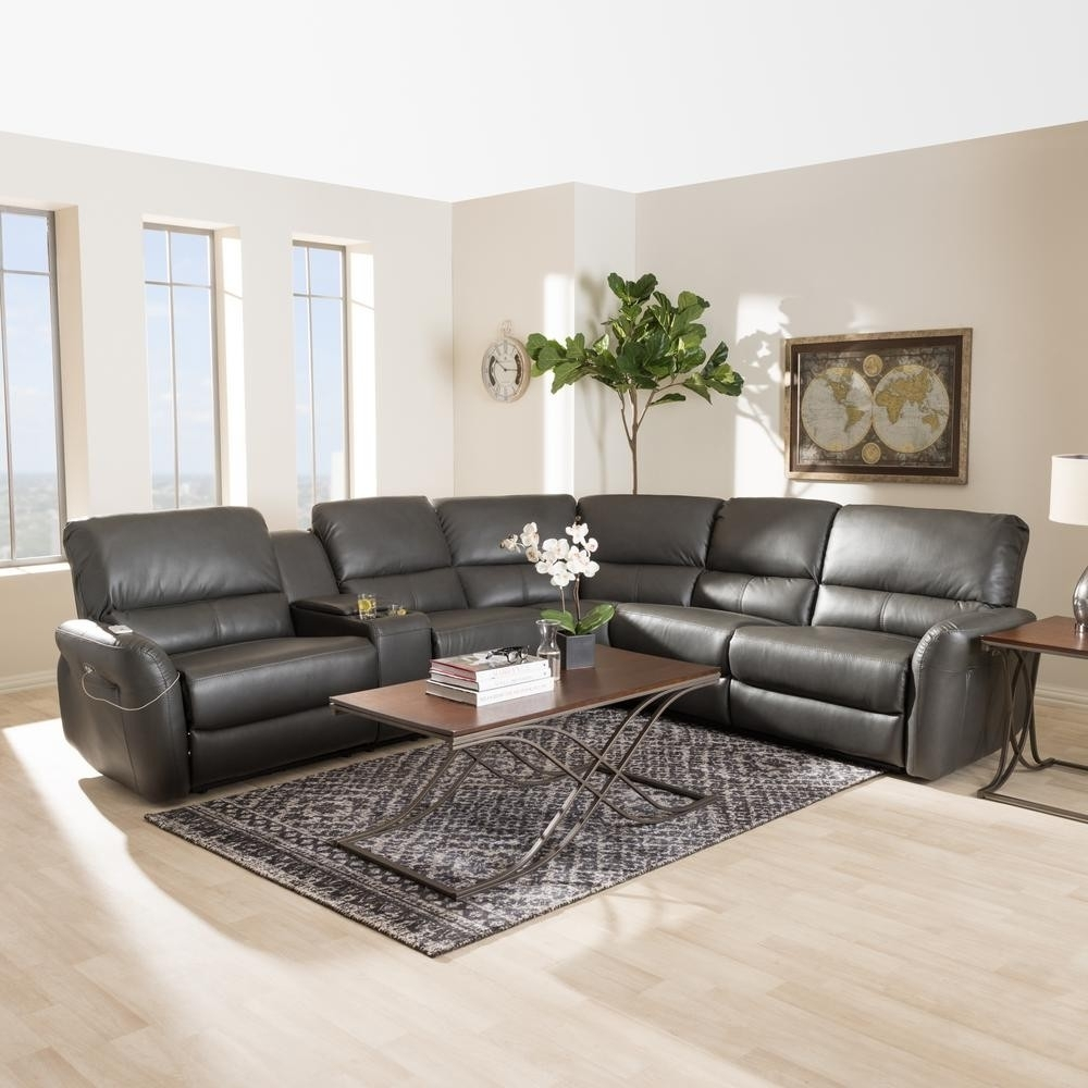 Grey Reclining Sectional Calder 6 Piece Manual Living Spaces 89989 0 for Calder Grey 6 Piece Manual Reclining Sectionals (Image 19 of 30)