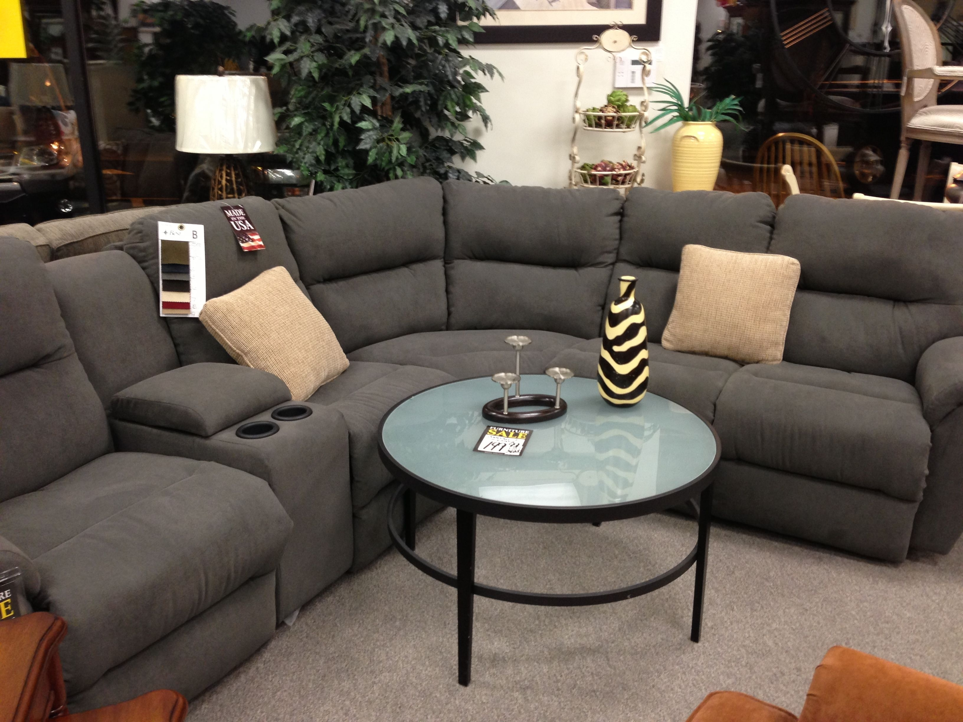 Grey Reclining Sectional From Michael's | House Ideas | Pinterest With Regard To Collins Sofa Sectionals With Reversible Chaise (View 13 of 30)