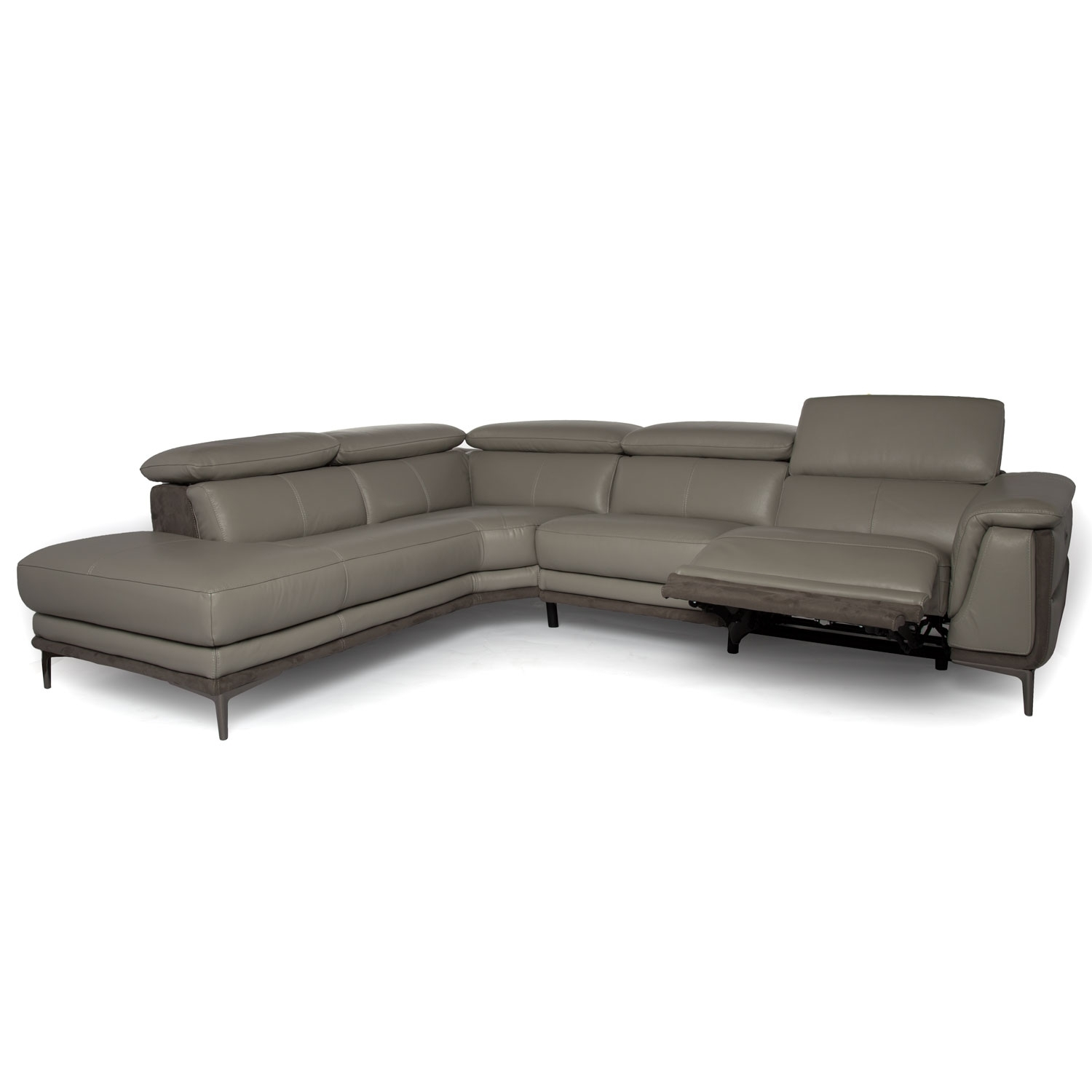 Grey Reclining Sectional - Tidex inside Calder Grey 6 Piece Manual Reclining Sectionals (Image 18 of 30)