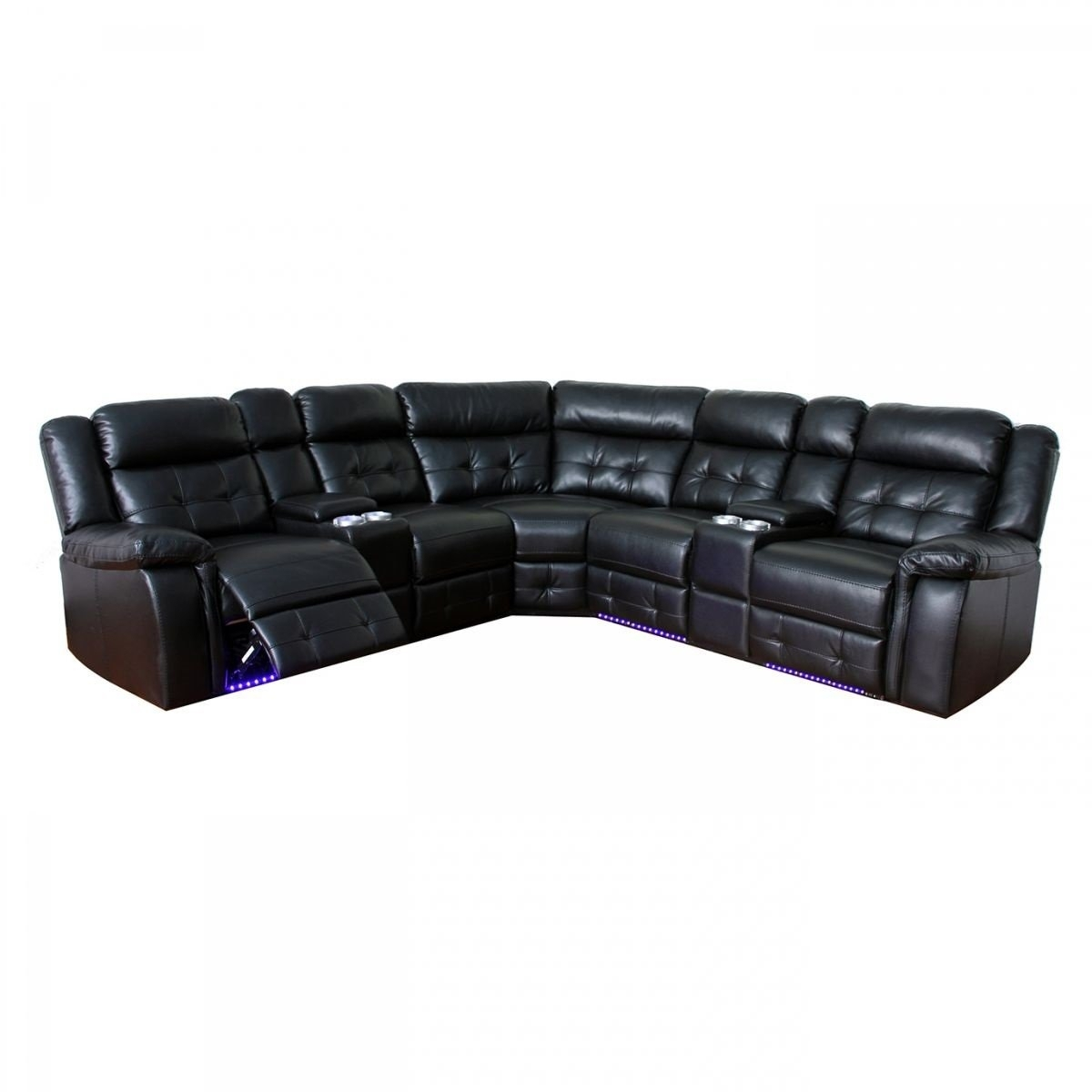 Grey Reclining Sectional - Tidex within Denali Charcoal Grey 6 Piece Reclining Sectionals With 2 Power Headrests (Image 16 of 30)