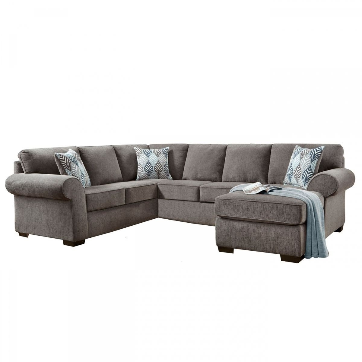 Grey Sectional Mcdade Graphite 2 Piece W Raf Chaise Living Spaces with regard to Mcdade Graphite 2 Piece Sectionals With Laf Chaise (Image 7 of 30)