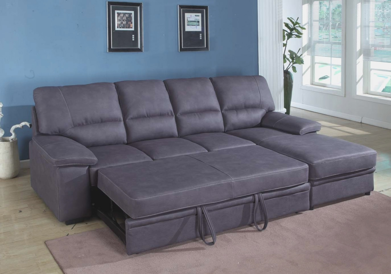 Grey Sectional Sleeper Sofa | Thesofasite.co regarding Arrowmask 2 Piece Sectionals With Raf Chaise (Image 12 of 30)