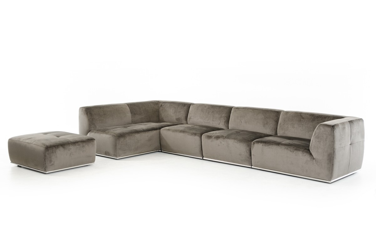 Grey Sectional Sofa With Ottoman Aspen Leather Reviews 3Pc Set Black within Aspen 2 Piece Sleeper Sectionals With Laf Chaise (Image 14 of 30)