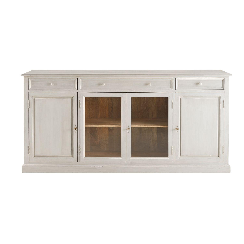 Featured Photo of Mango Wood Grey 4 Drawer 4 Door Sideboards