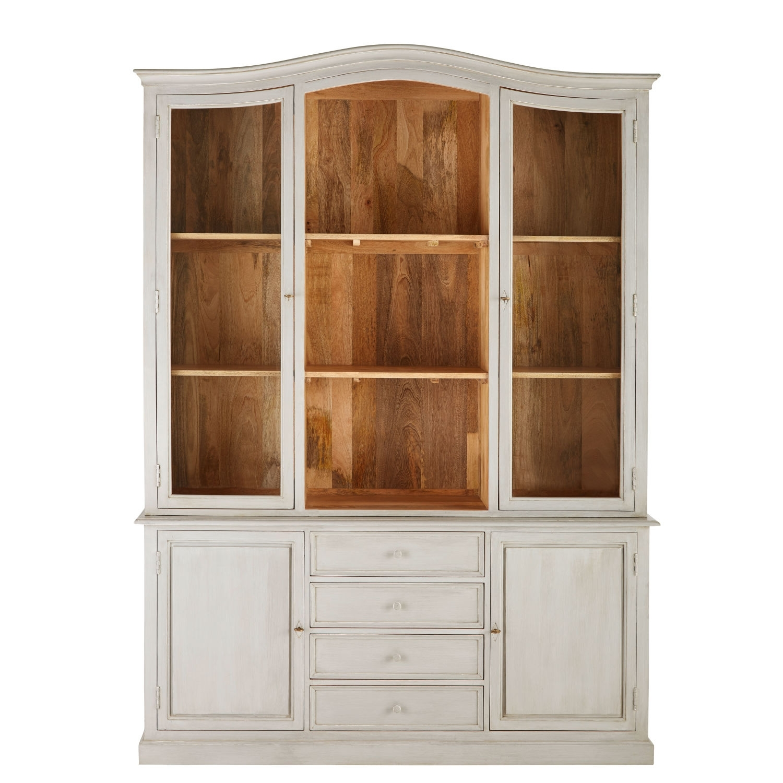Grey Solid Mango Wood 4-Door 4-Drawer Dresser | Maisons Du Monde with regard to Mango Wood Grey 4-Drawer 4-Door Sideboards (Image 11 of 30)