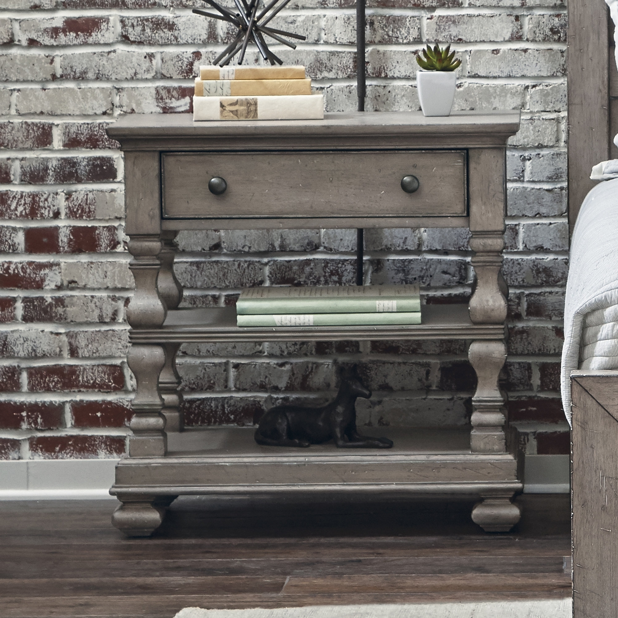 Greyleigh Devers 1 Drawer Nightstand & Reviews | Wayfair with Helms Sideboards (Image 13 of 30)