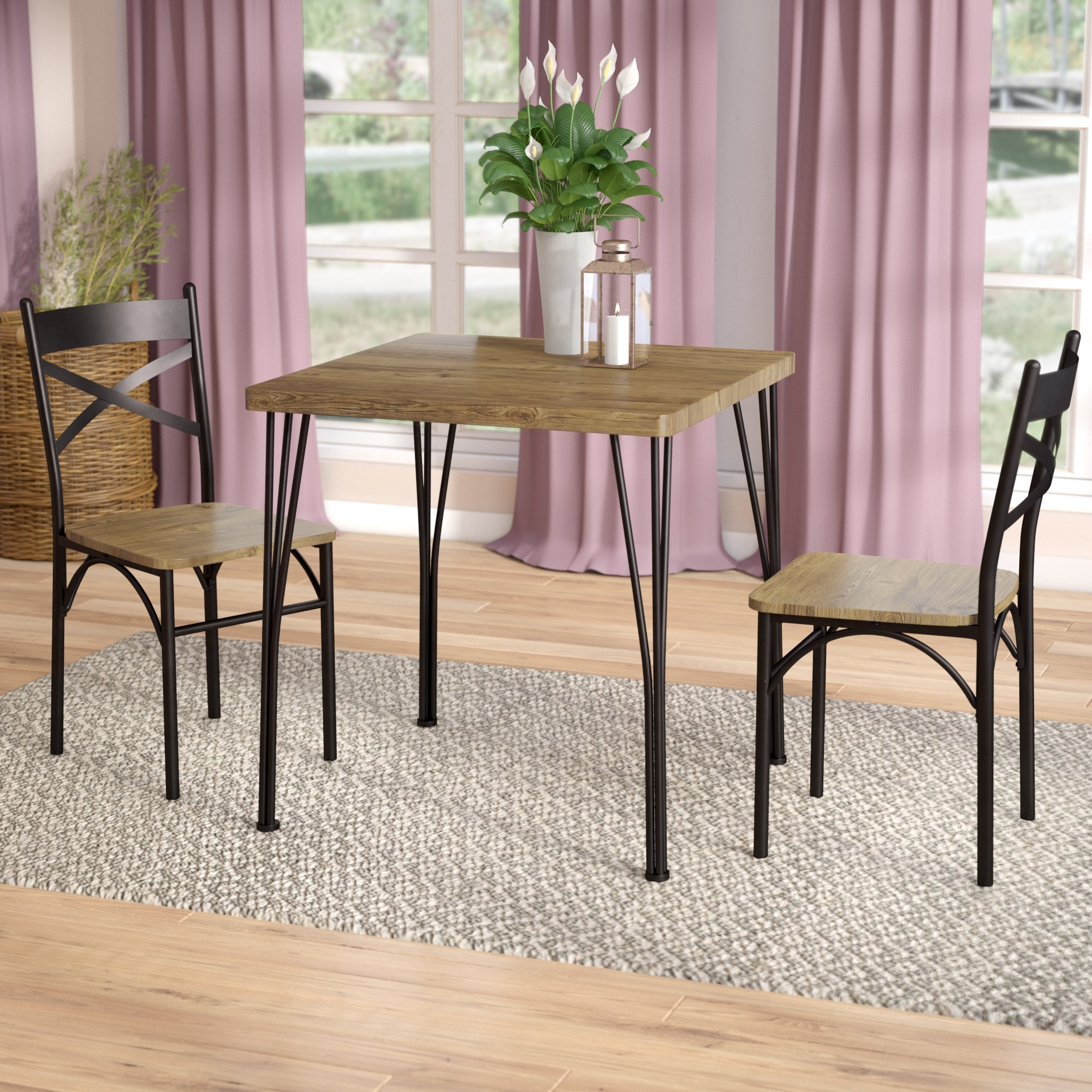 Guertin 3 Piece Dining Set & Reviews | Joss & Main inside Delano Smoke 3 Piece Sectionals (Image 12 of 30)