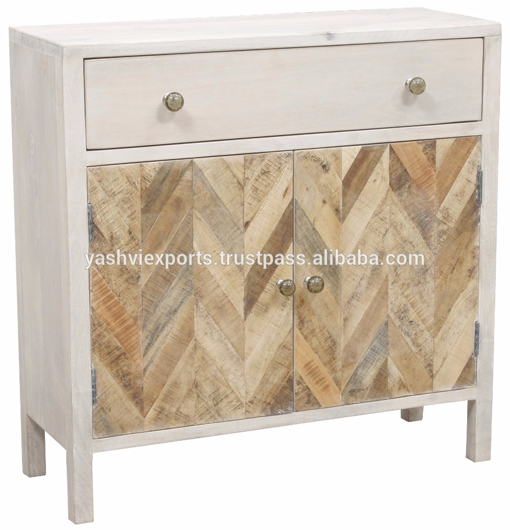 Hand Painted White Washed Acacia Wood Sidebaord - Buy Two Door And in Corrugated White Wash Sideboards (Image 7 of 30)