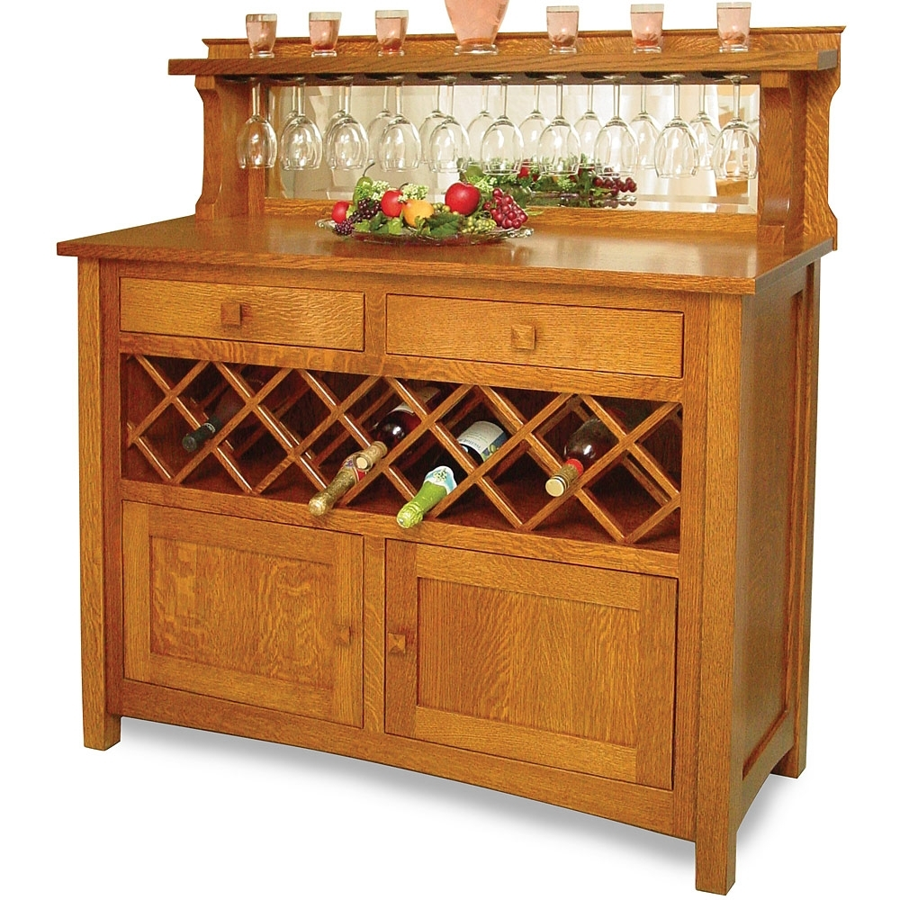 Handmade Mission/arts & Crafts/craftsman Wood Kitchen Buffet Table with regard to Craftsman Sideboards (Image 13 of 30)