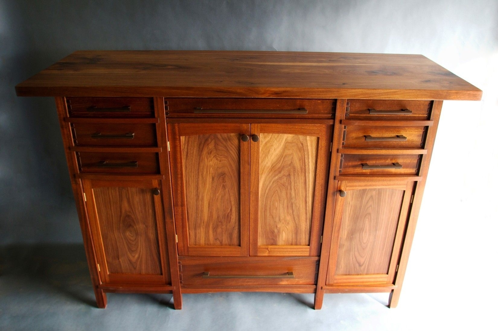 Handmade Walnut And Sapele Custom Sideboardbow River Craftsman with regard to Craftsman Sideboards (Image 15 of 30)