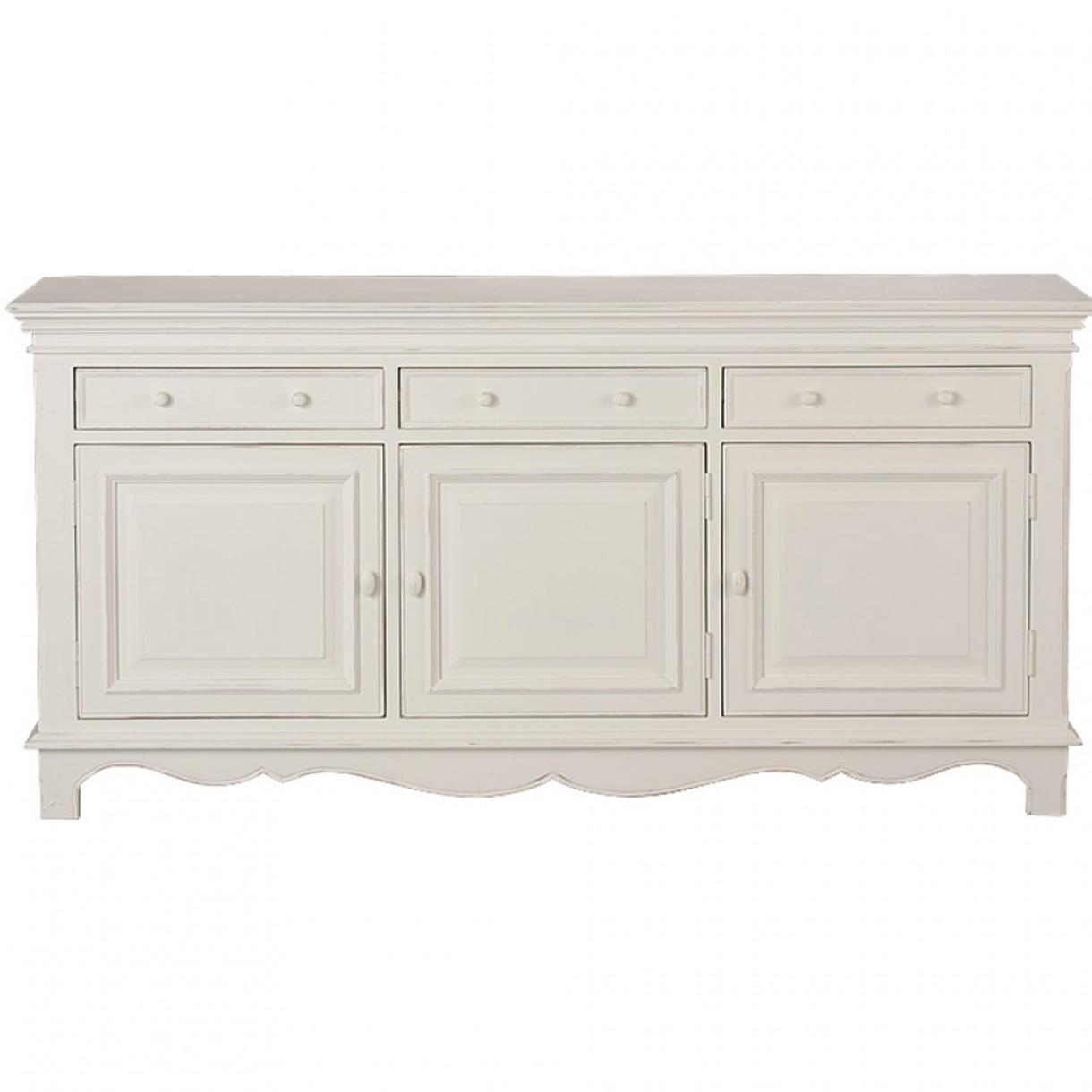 Harmonie 3 Door Sideboard throughout White Wash 3-Door 3-Drawer Sideboards (Image 13 of 30)
