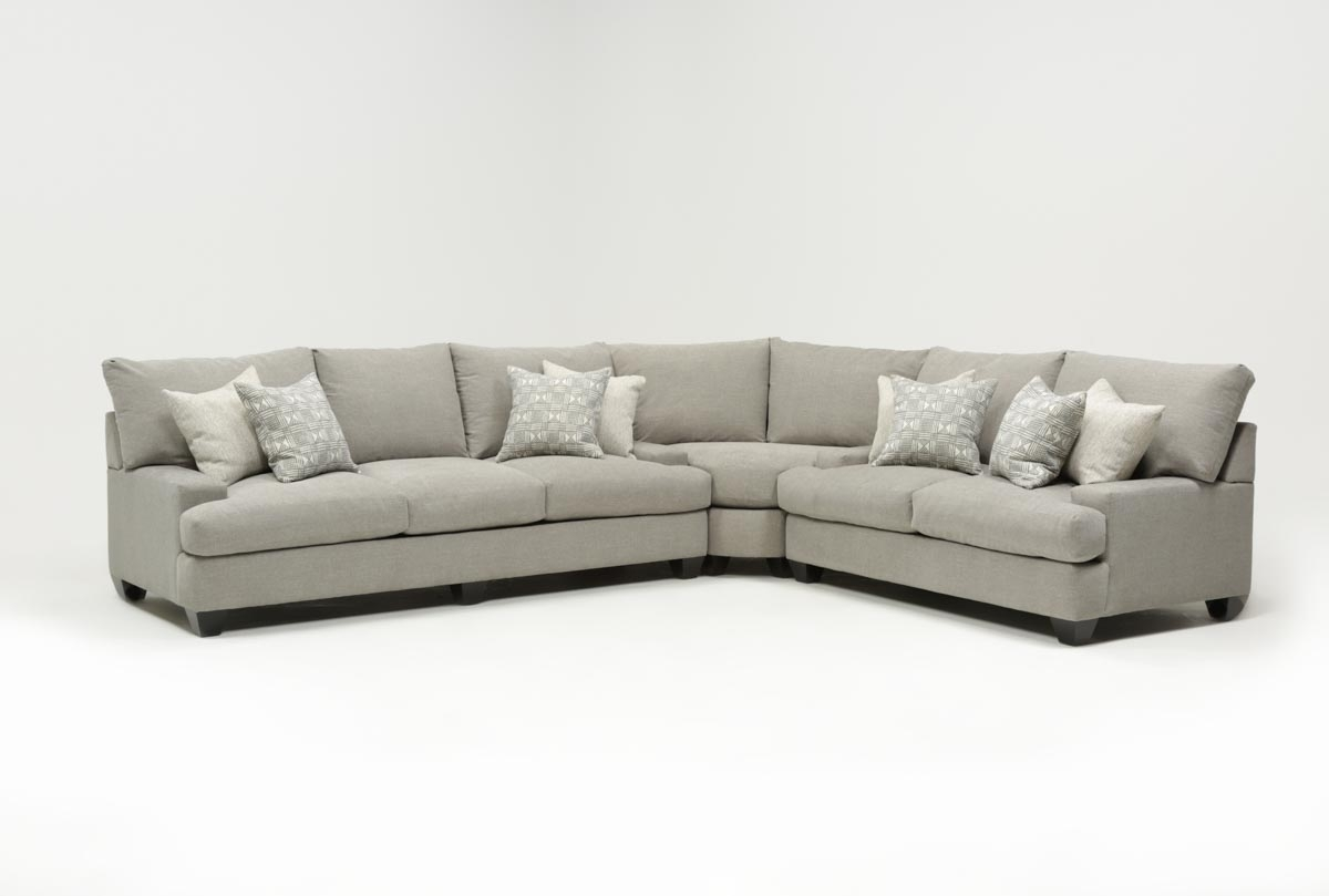 Harper Down 3 Piece Sectional | Living Spaces regarding Harper Foam 3 Piece Sectionals With Raf Chaise (Image 5 of 30)