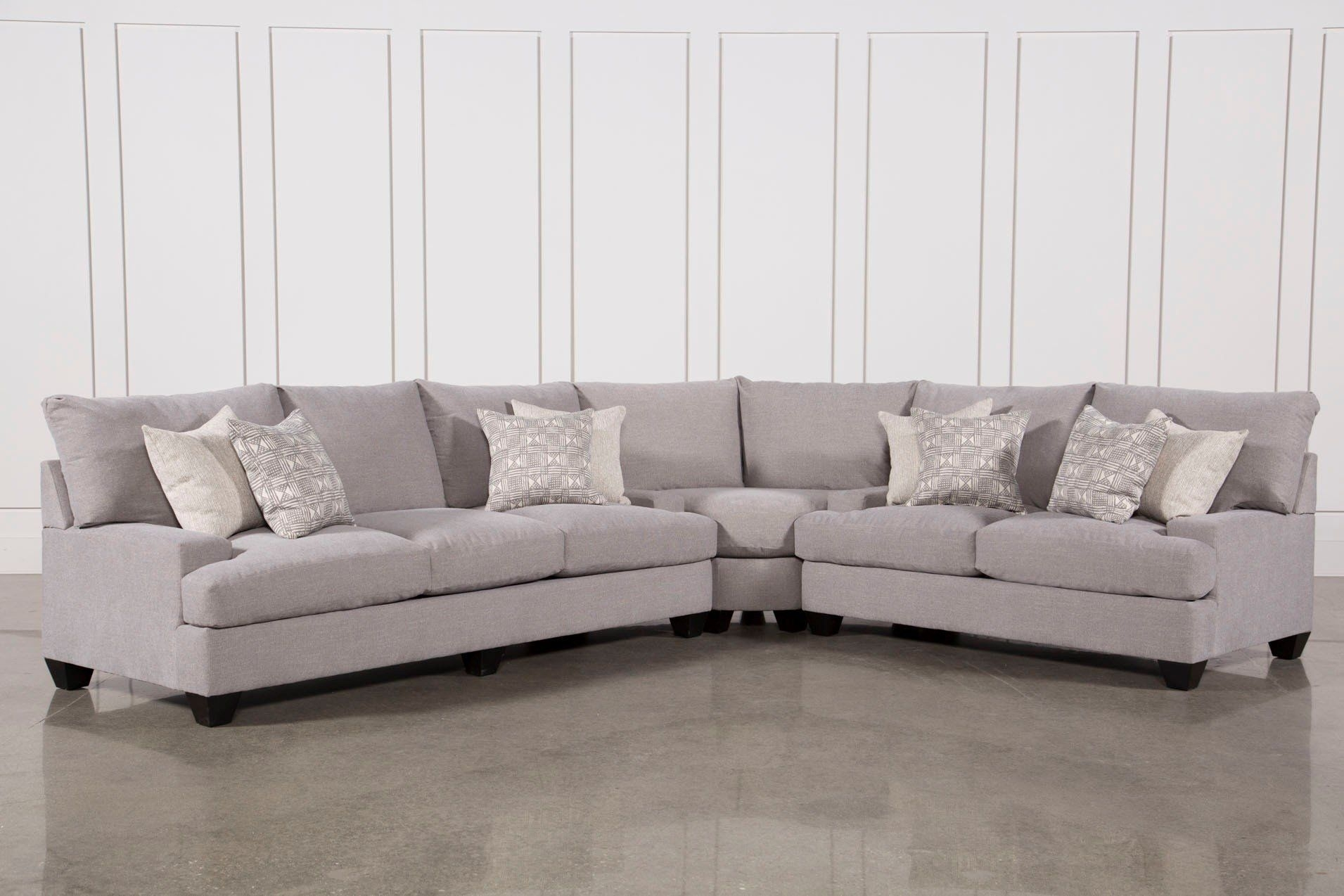 Harper Down 3 Piece Sectional | Livingroom Media | Pinterest pertaining to Adeline 3 Piece Sectionals (Image 15 of 30)