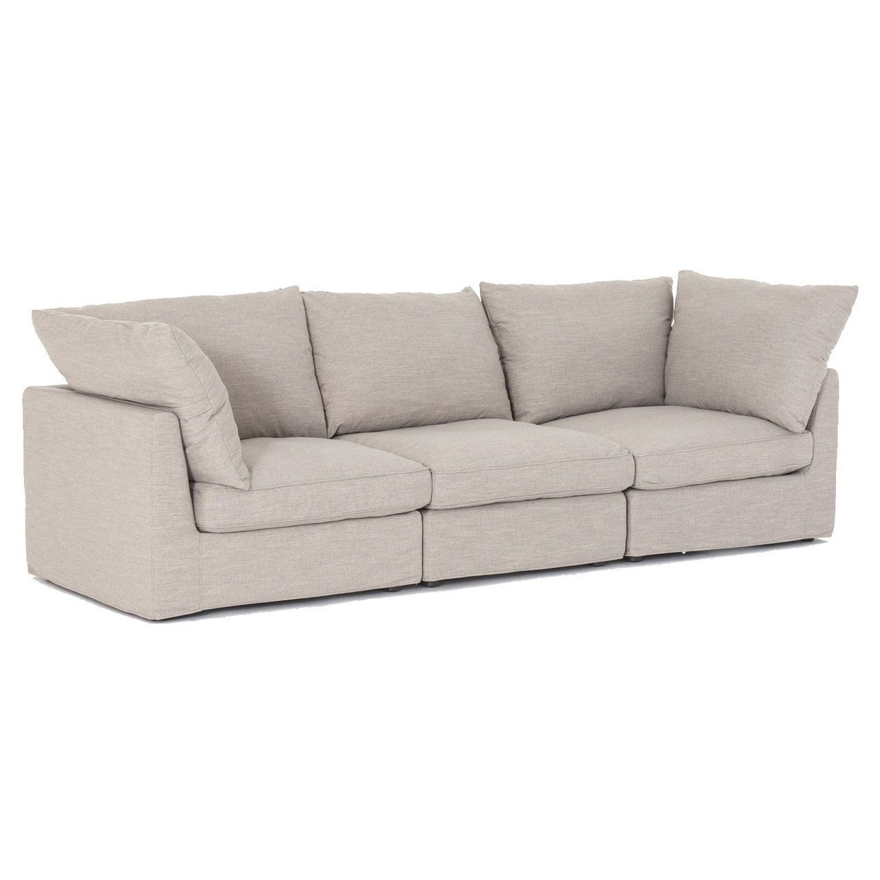 Harper Foam 3 Piece Sectional W/raf Chaise for Harper Foam 3 Piece Sectionals With Raf Chaise (Image 6 of 30)