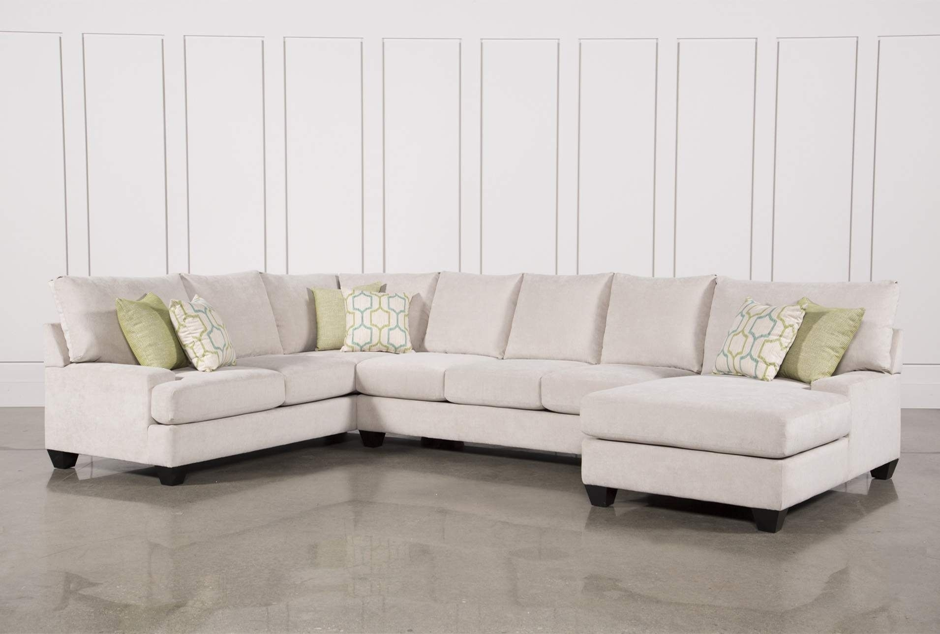 Harper Foam 3 Piece Sectional W/raf Chaise in Meyer 3 Piece Sectionals With Laf Chaise (Image 12 of 30)