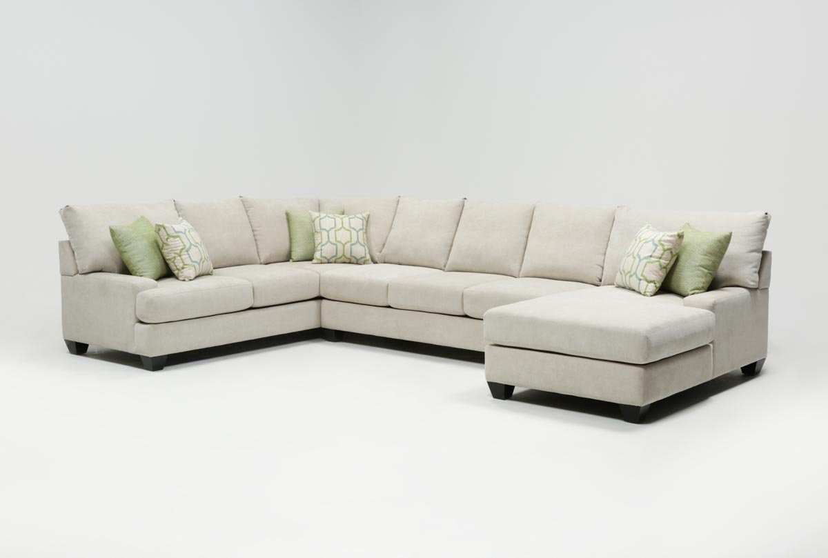 Harper Foam 3 Piece Sectional W/raf Chaise | Living Spaces For Malbry Point 3 Piece Sectionals With Raf Chaise (View 3 of 30)