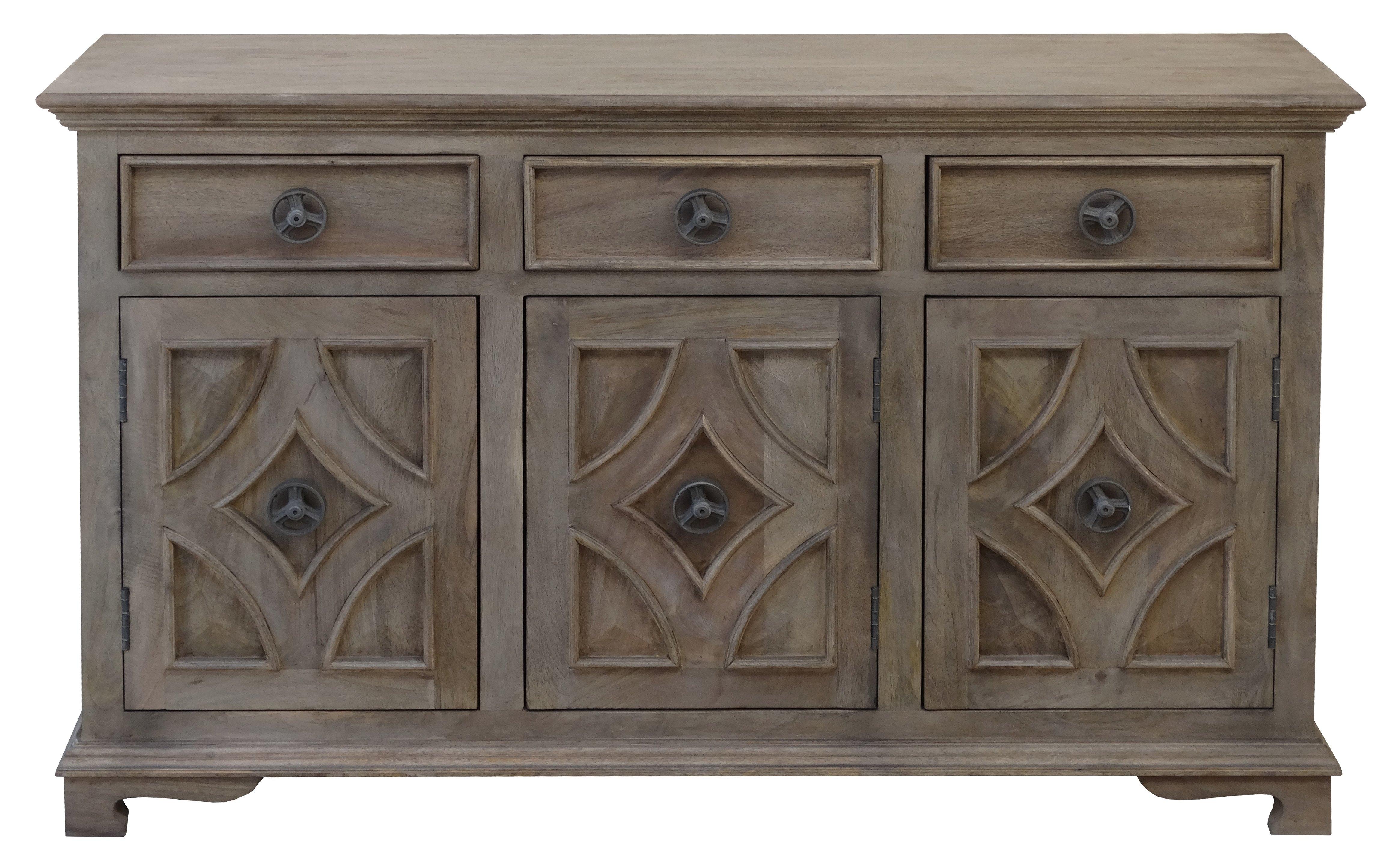 Hayter Sideboard & Reviews | Joss & Main within Reclaimed Pine & Iron 4-Door Sideboards (Image 13 of 30)