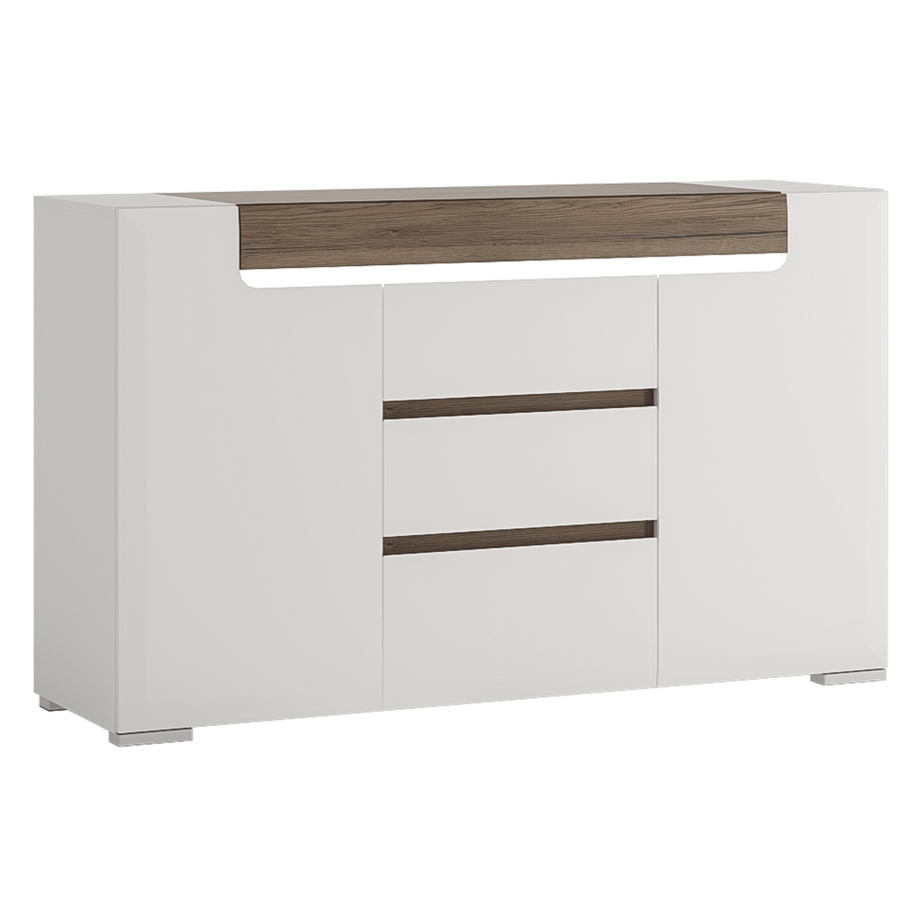 Hazelwood Home Betty 2 Door 3 Drawer Sideboard | Wayfair.co.uk intended for Boyce Sideboards (Image 12 of 30)