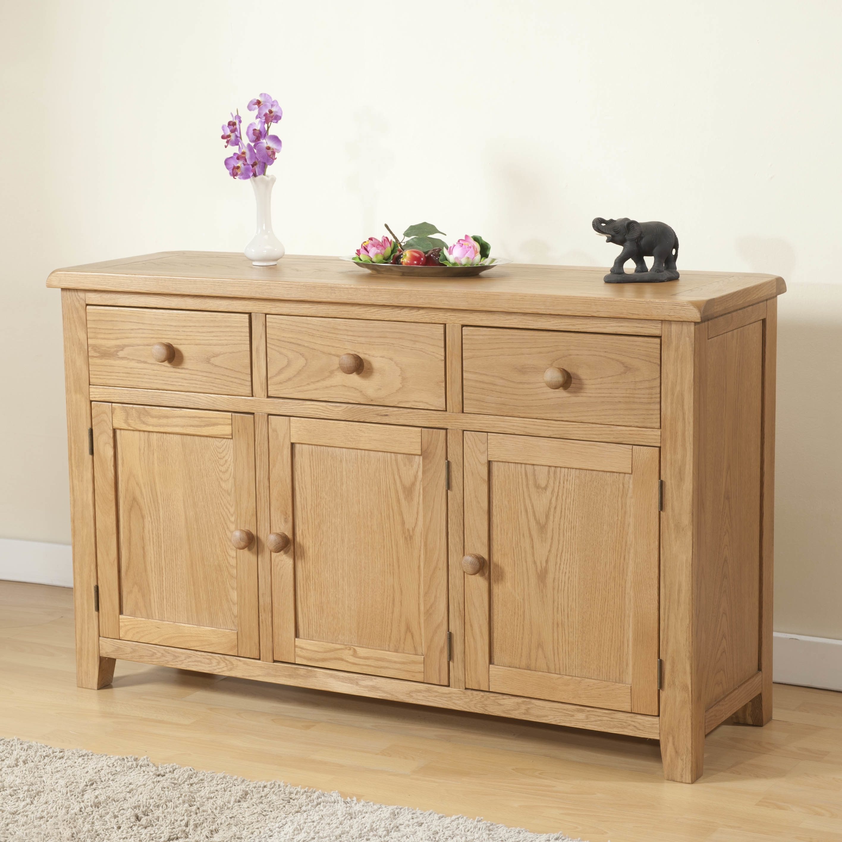 Hazelwood Home Rothbury 3 Door 3 Drawer Sideboard | Wayfair.co.uk pertaining to Aged Pine 3-Drawer 2-Door Sideboards (Image 13 of 30)