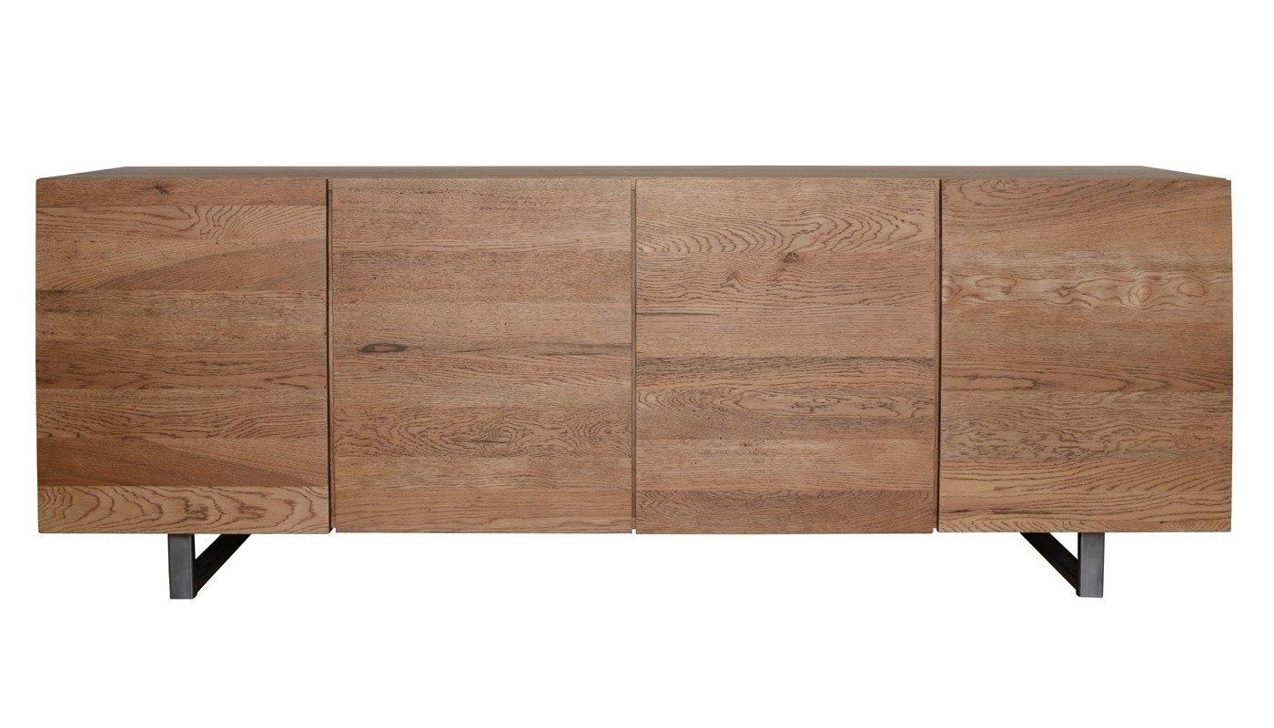 Heal's Siena 4 Door Sideboard In Antique Oak | Heal's within Square Brass 4 Door Sideboards (Image 16 of 30)