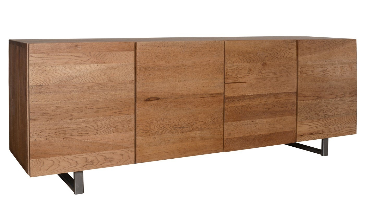 Heal's Siena 4 Door Sideboard In Antique Oak | Heal's within Vintage Brown Textured Sideboards (Image 9 of 30)