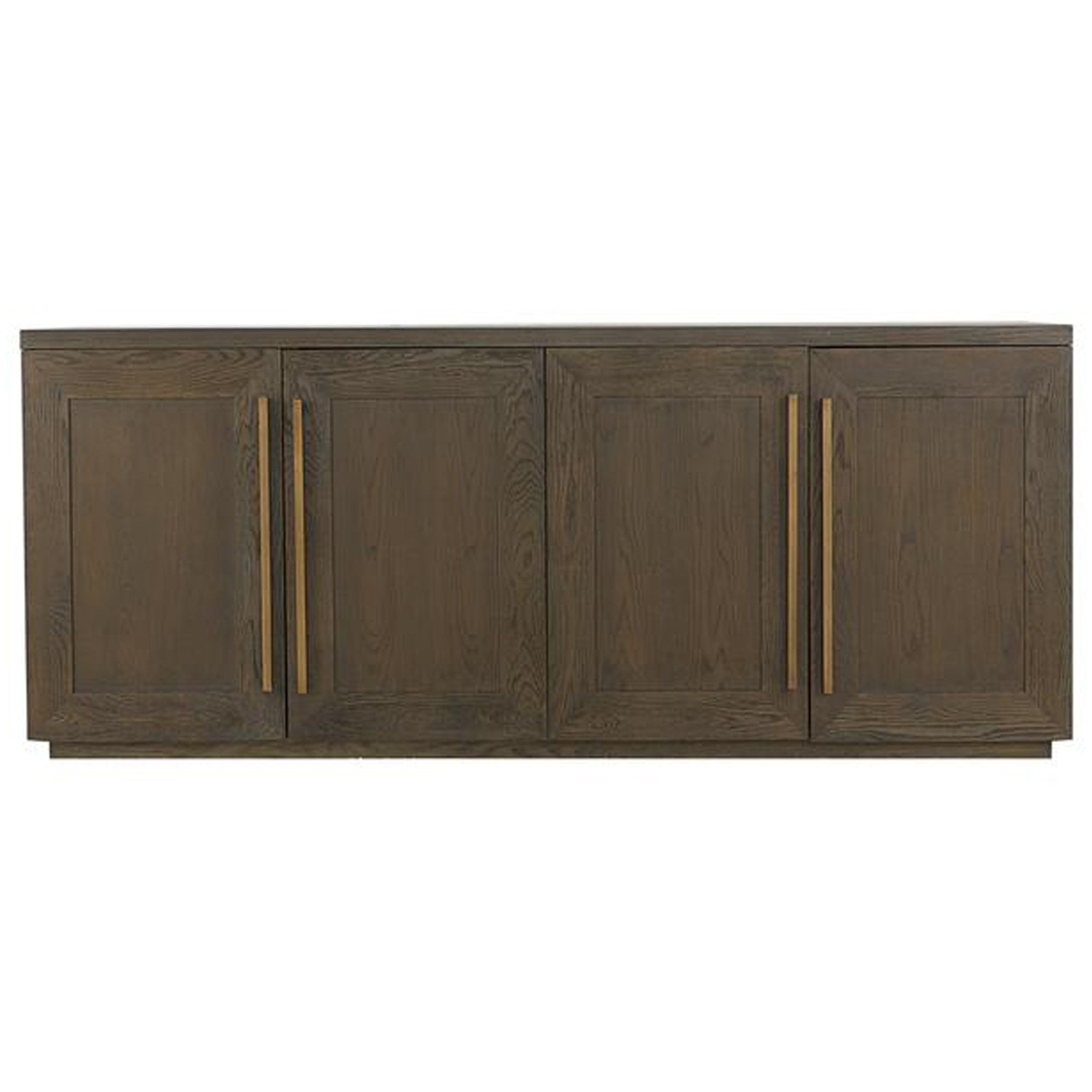 Henli Brown Oak Sideboard With Aged Brass Frame Accents. Dimensions in Aged Brass Sideboards (Image 12 of 30)