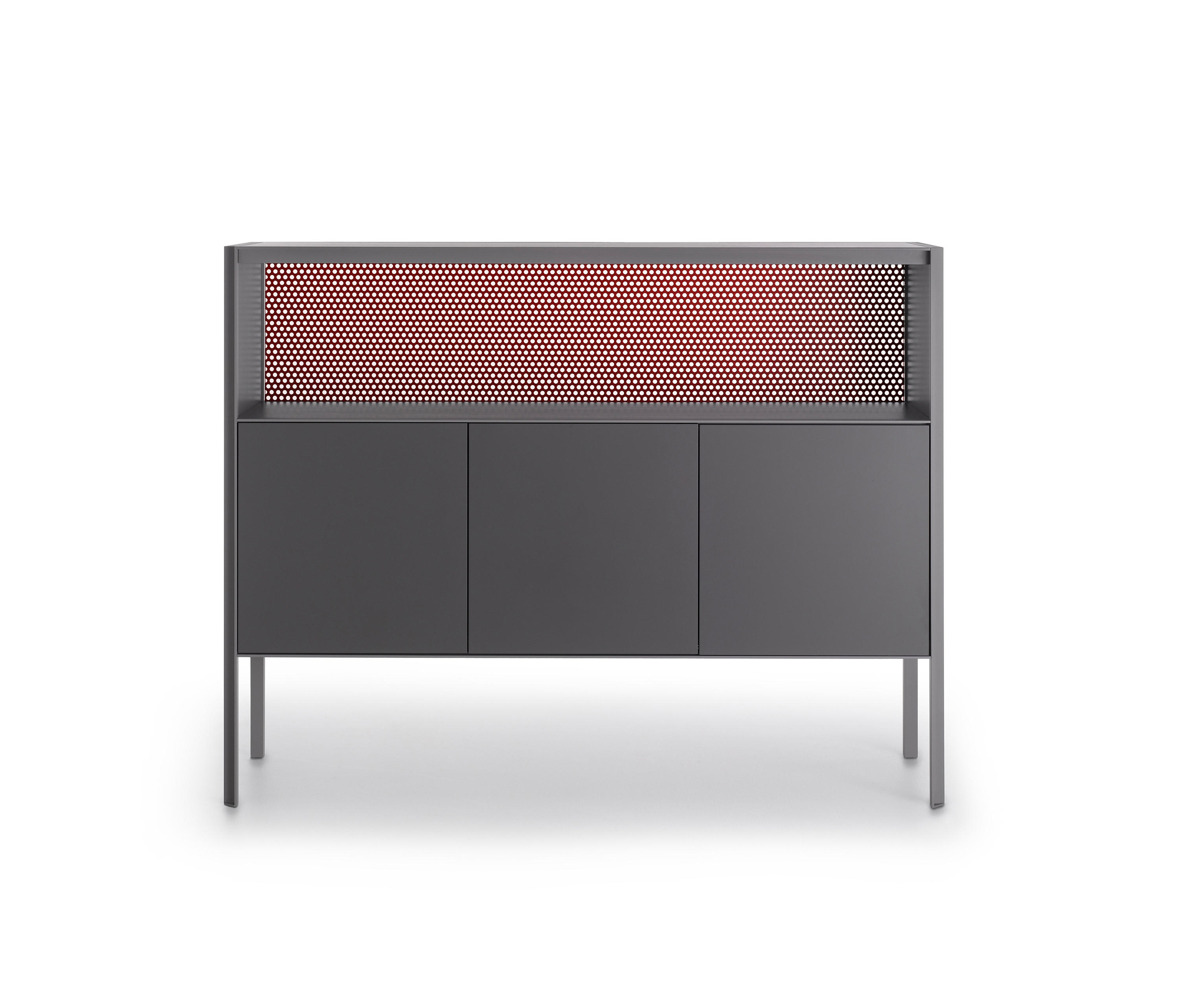 Heron - Sideboards From Mdf Italia | Architonic for 4-Door/4-Drawer Metal Inserts Sideboards (Image 14 of 30)