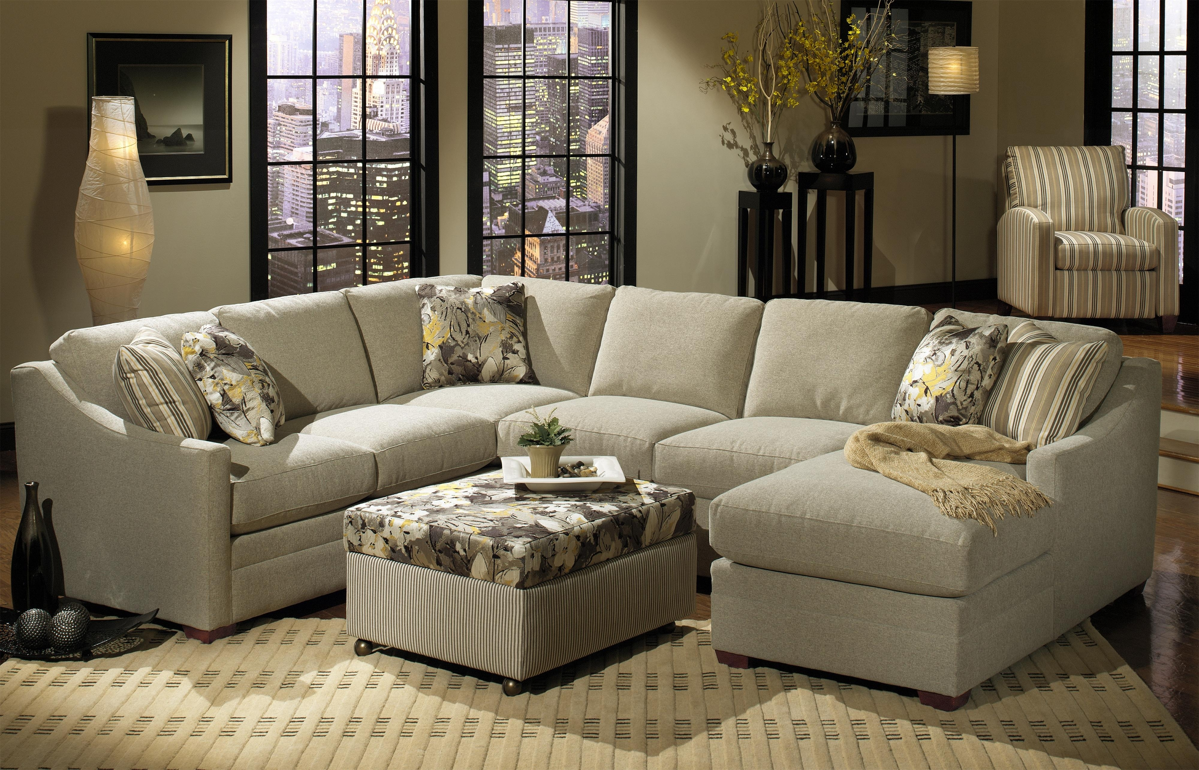 Hickory Craft F9 Custom Collection <B>Customizable</b> 3-Piece throughout Tatum Dark Grey 2 Piece Sectionals With Raf Chaise (Image 9 of 30)