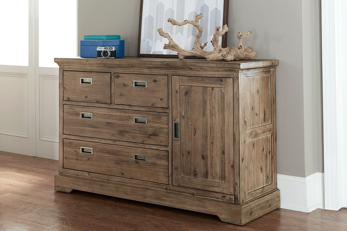 Hillsdale|Ne Kids|Solid Acacia Oxford 4 Drawer Door Dresser|Dura Blast with Acacia Wood 4-Door Sideboards (Image 11 of 30)