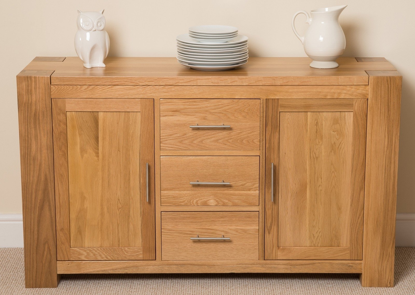 Hokku Designs Kuba 2 Door 3 Drawer Sideboard | Wayfair.co.uk within Aged Pine 3-Drawer 2-Door Sideboards (Image 14 of 30)
