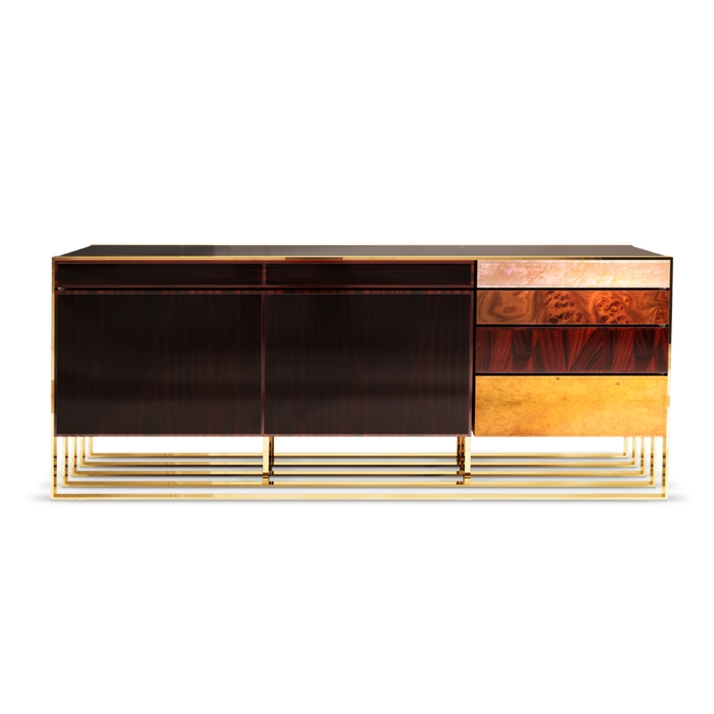Hollow Modern Sideboardmalabar | Artistic Furniture throughout Ironwood 4-Door Sideboards (Image 11 of 30)