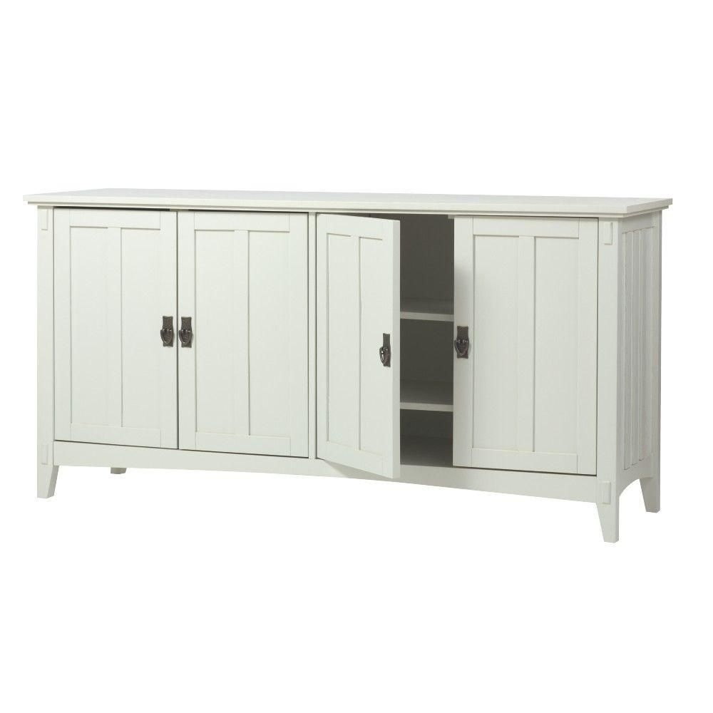 Home Decorators Collection Artisan 60 In. W 4-Door Buffet Table In within Oil Pale Finish 4-Door Sideboards (Image 16 of 30)