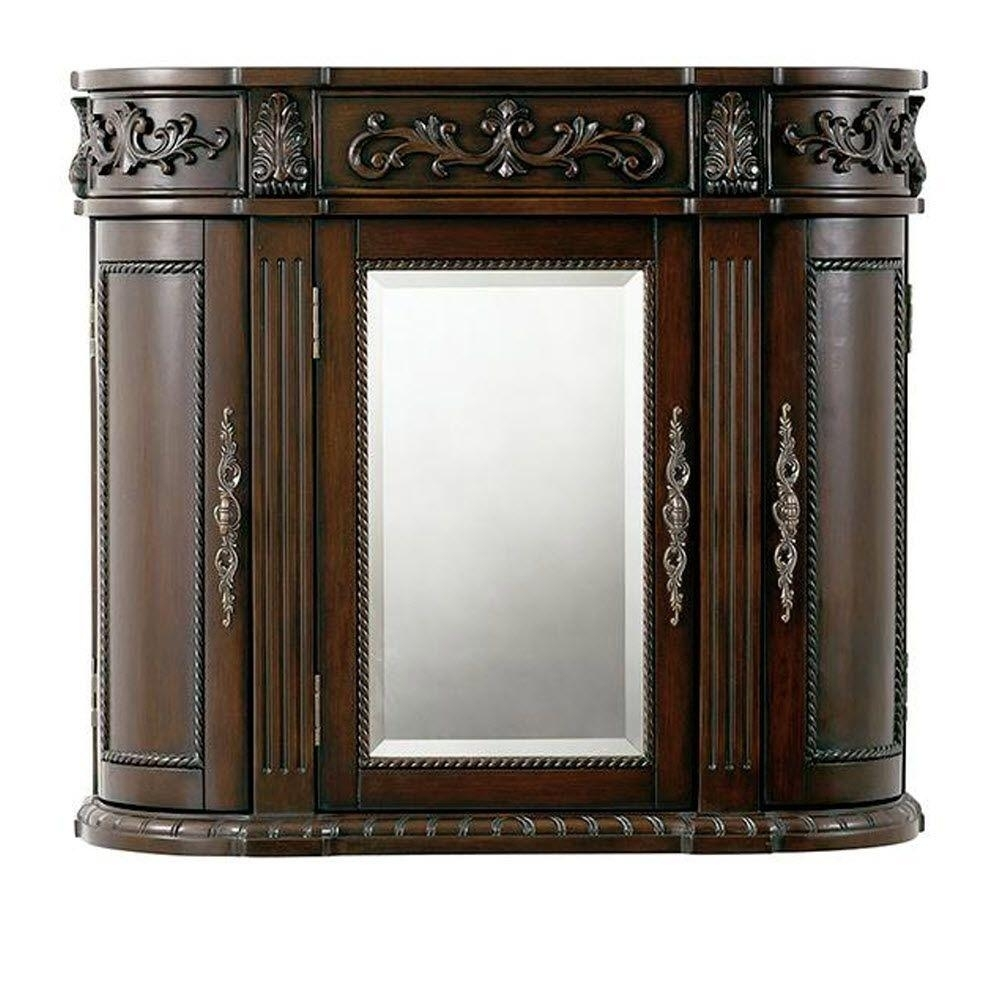 Home Decorators Collection Chelsea 31-1/2 In. W Bathroom Storage inside Aged Mirrored 2 Door Sideboards (Image 15 of 30)