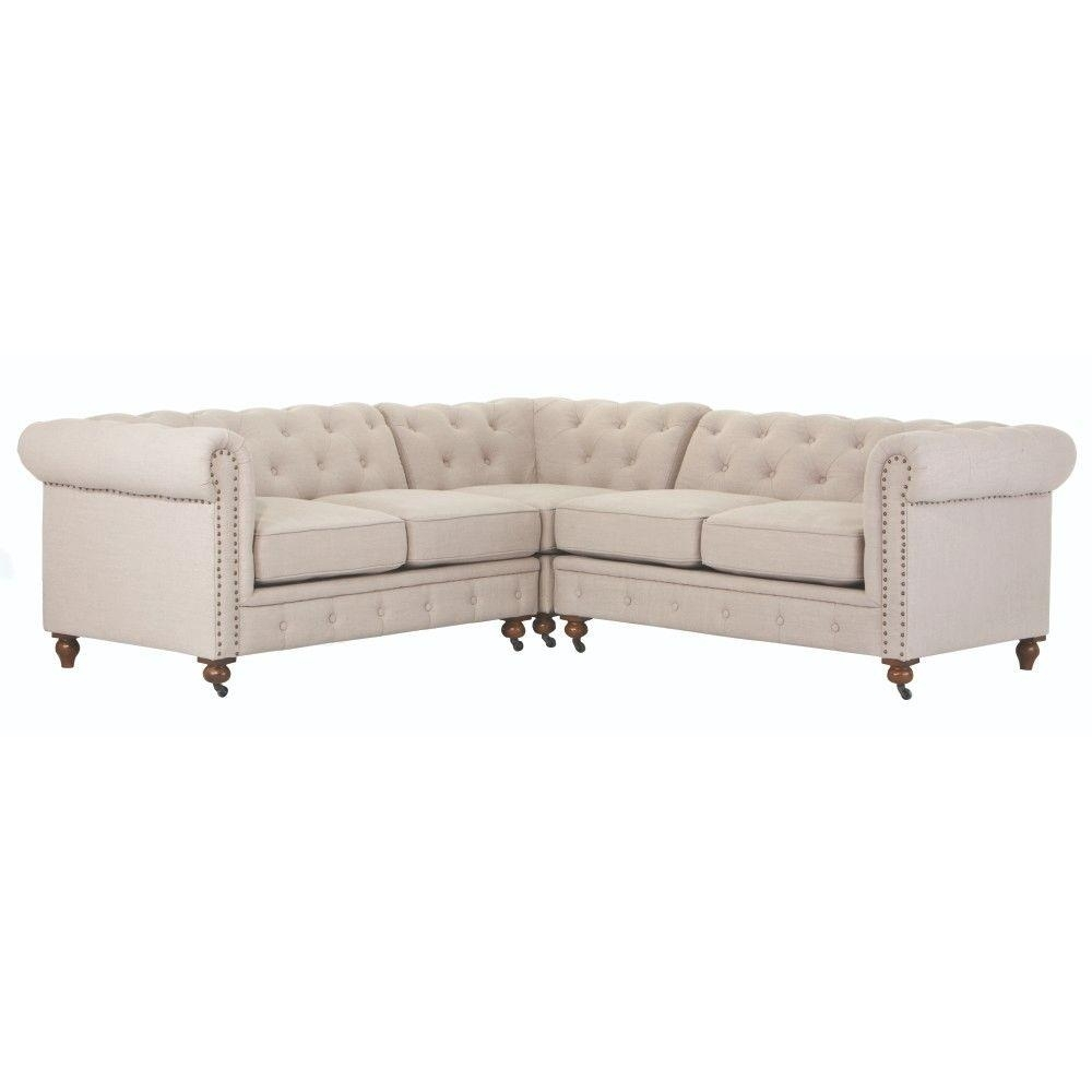 Home Decorators Collection Gordon 3-Piece Natural Linen Sectional inside Gordon 3 Piece Sectionals With Raf Chaise (Image 16 of 30)