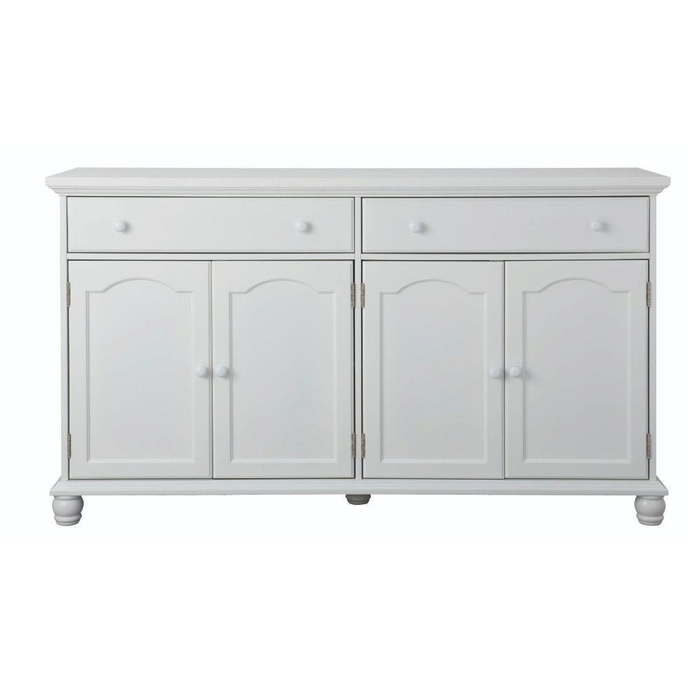 Home Decorators Collection Harwick Antique White Buffet-Bf-23034-Wh in Vintage Finish 4-Door Sideboards (Image 11 of 30)
