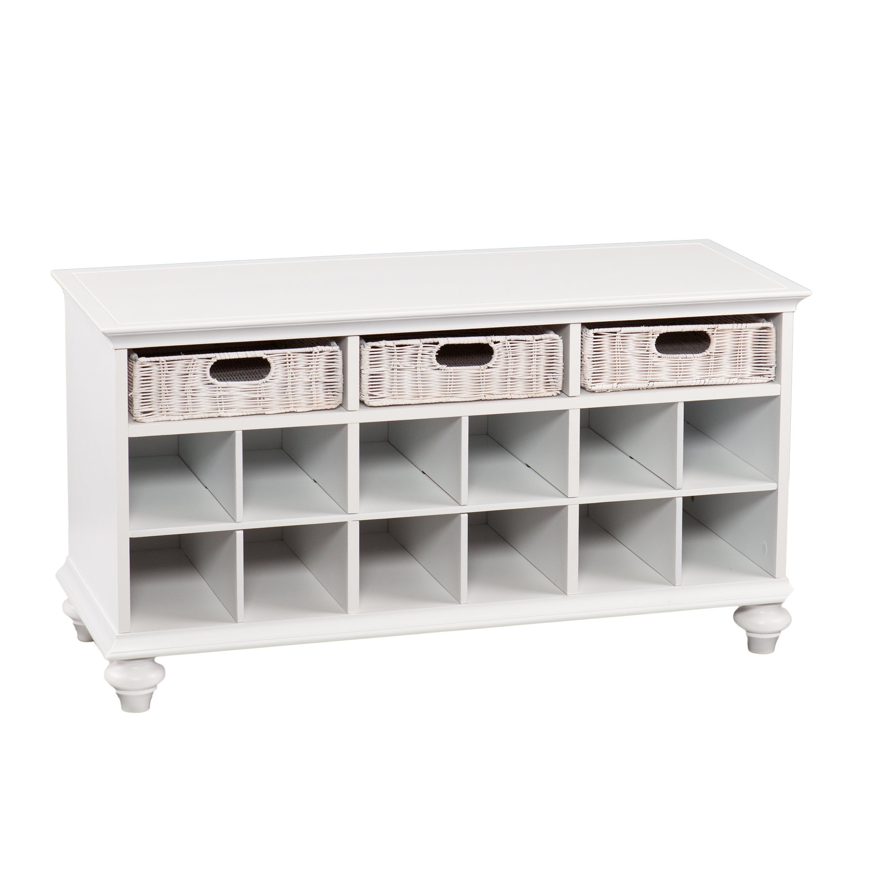 Home Etc Chelmsford Wood Storage Bench & Reviews | Wayfair.co.uk for Helms Sideboards (Image 15 of 30)