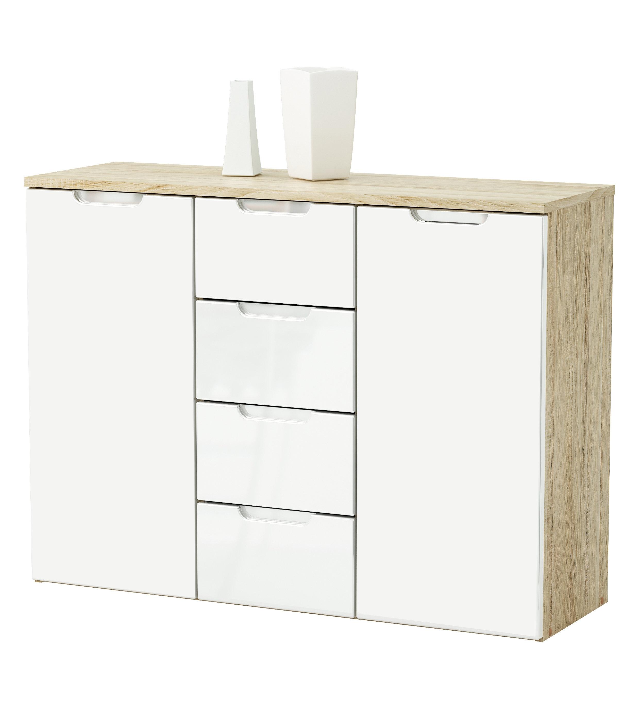 Home & Haus Pelee 2 Door 4 Drawer Sideboard & Reviews | Wayfair.co.uk intended for 2-Drawer Sideboards (Image 18 of 30)