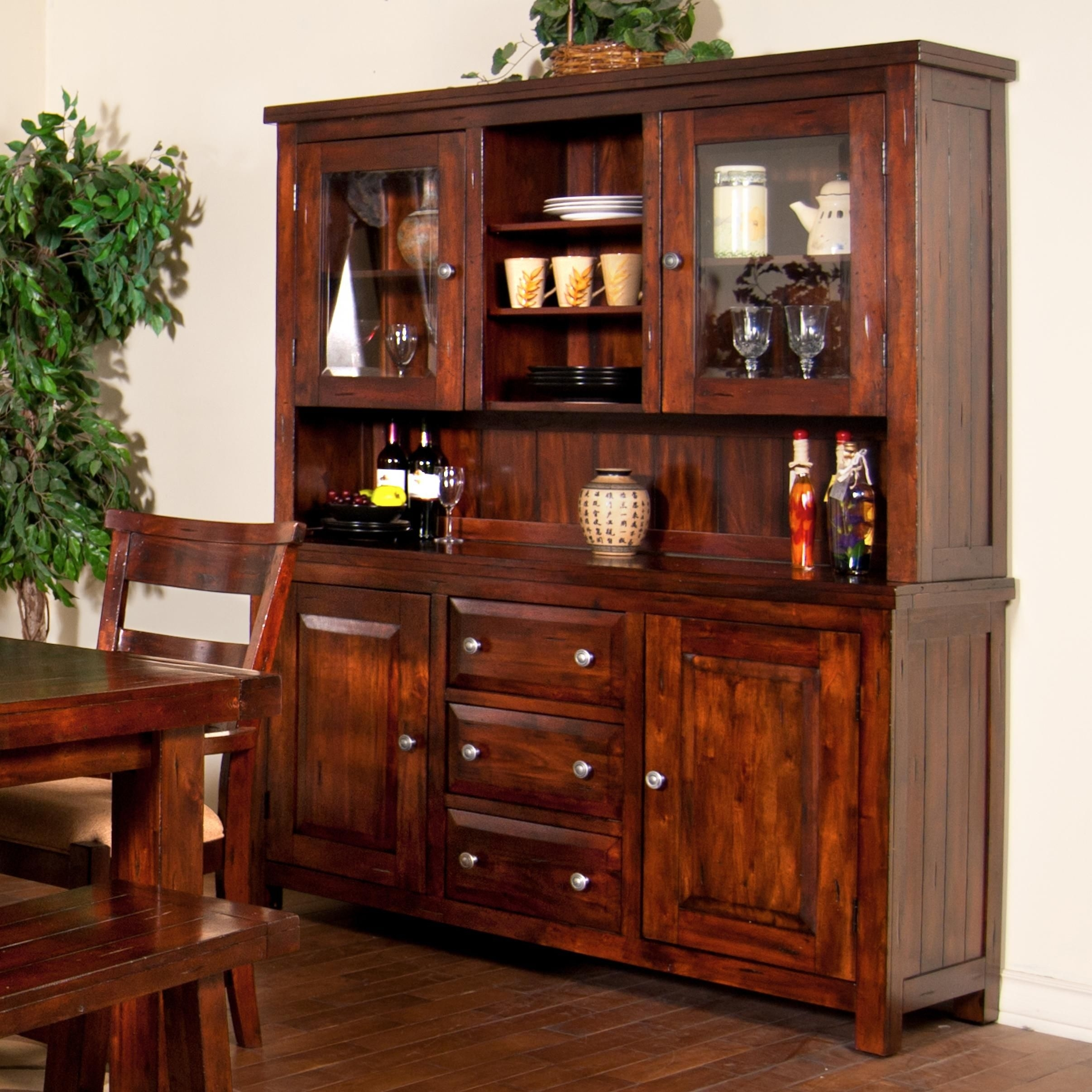 Home | Home Remodel | Pinterest | China Cabinets, China And Buffet inside Natural Oak Wood 78 Inch Sideboards (Image 8 of 30)
