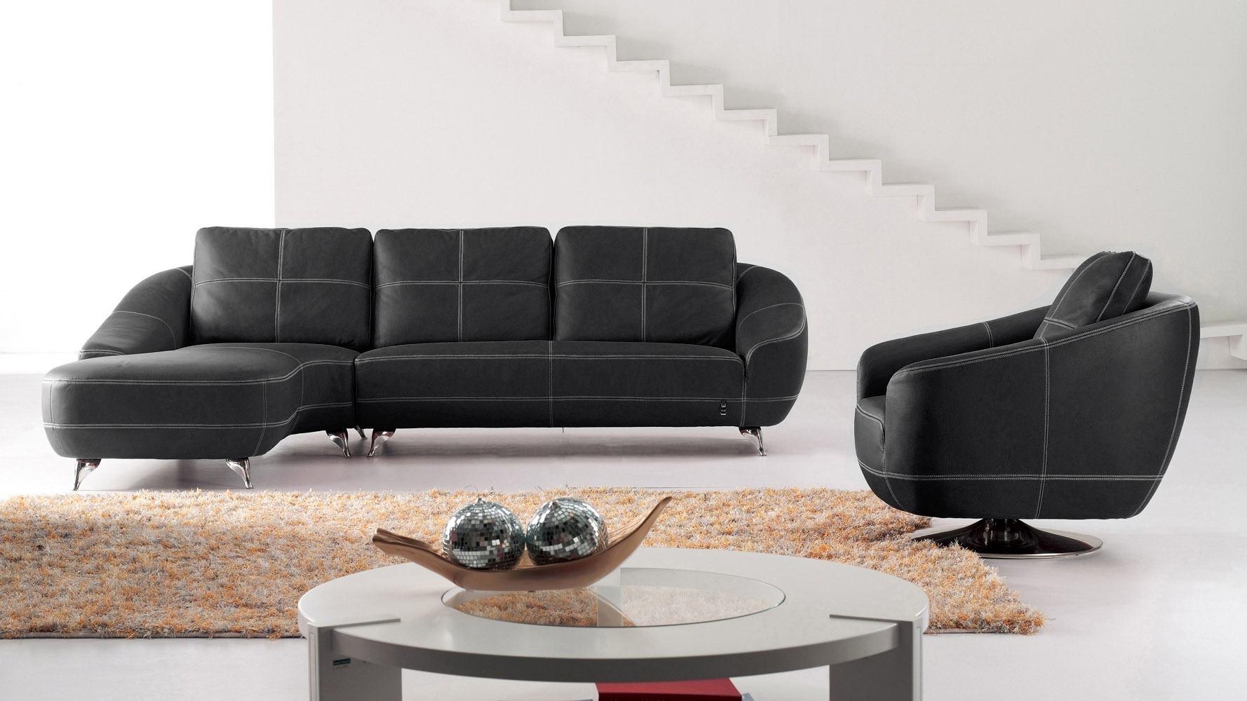 Home Lucy 2 Seater Leather Effect Sofa Bed Black - Sofa Designs intended for Lucy Grey 2 Piece Sectionals With Raf Chaise (Image 12 of 30)