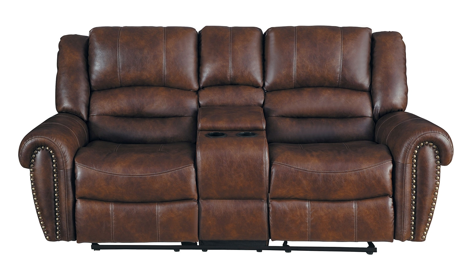 Homelegance Center Hill Reclining Sectional Set - Dark Brown 9668Nsd in Clyde Saddle 3 Piece Power Reclining Sectionals With Power Headrest & Usb (Image 15 of 30)