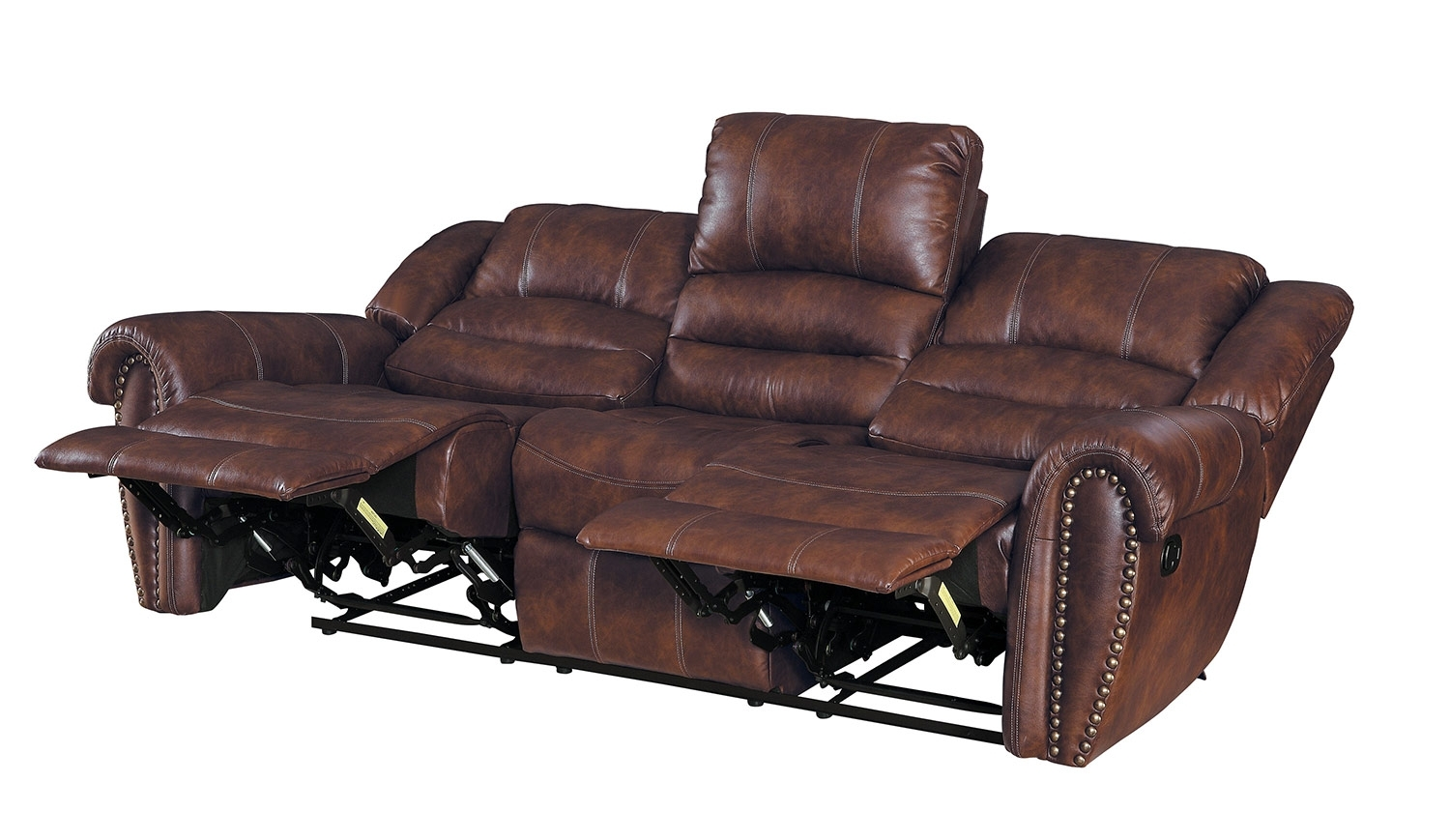 Homelegance Center Hill Reclining Sectional Set - Dark Brown 9668Nsd within Clyde Saddle 3 Piece Power Reclining Sectionals With Power Headrest & Usb (Image 17 of 30)