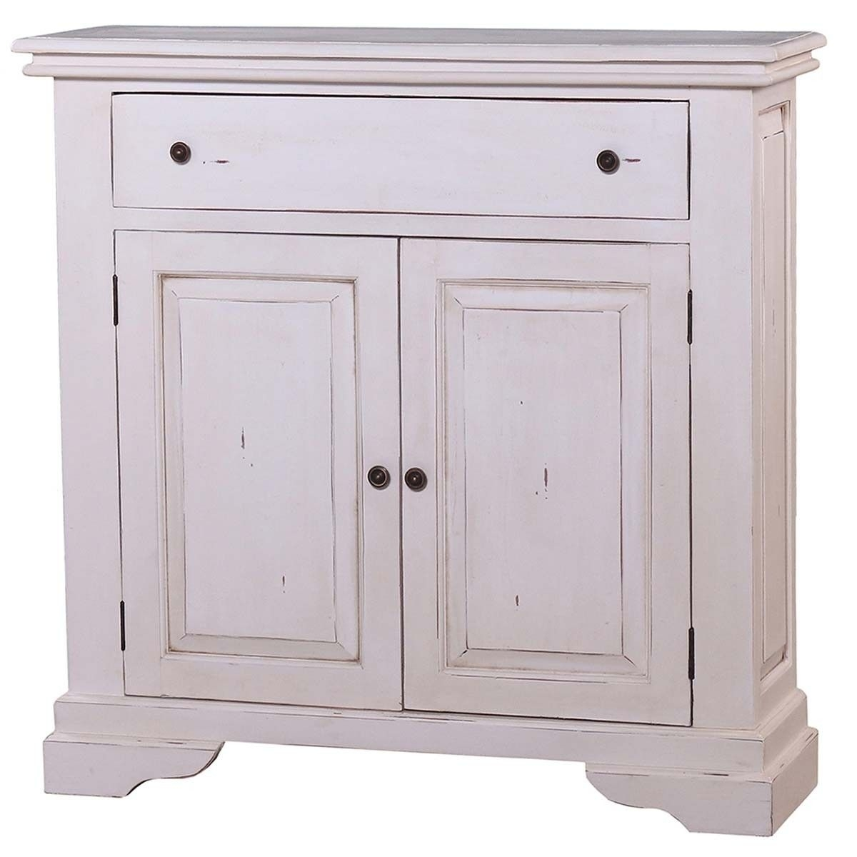 Homestead 2 Door Narrow Sideboard 40X12X39 | Master Bedroom intended for Antique White Distressed 3-Drawer/2-Door Sideboards (Image 14 of 30)