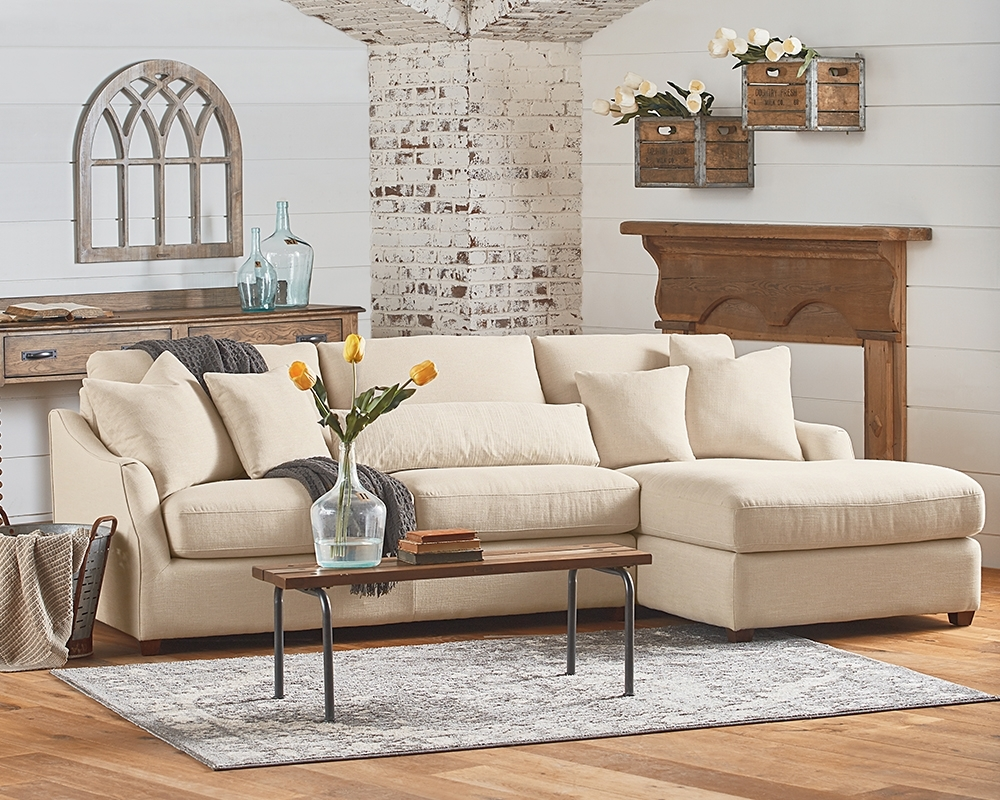 Homestead Chaise Sofa – Magnolia Home In Magnolia Home Homestead 4 Piece Sectionals By Joanna Gaines (View 8 of 30)