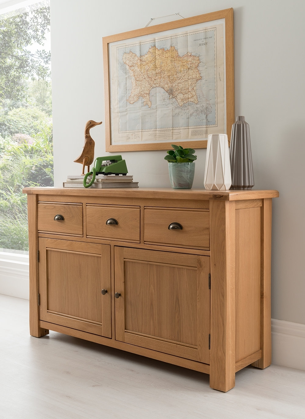 Homestead Living Brooklyn 2 Door 3 Drawer Sideboard | Wayfair.co.uk throughout Aged Pine 3-Drawer 2-Door Sideboards (Image 15 of 30)