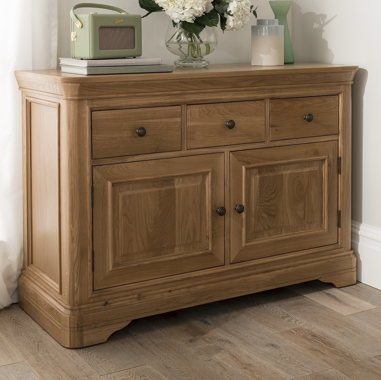 Homestead Living Rowan 2 Door 3 Drawer Sideboard | Wayfair.co.uk in Aged Pine 3-Drawer 2-Door Sideboards (Image 16 of 30)
