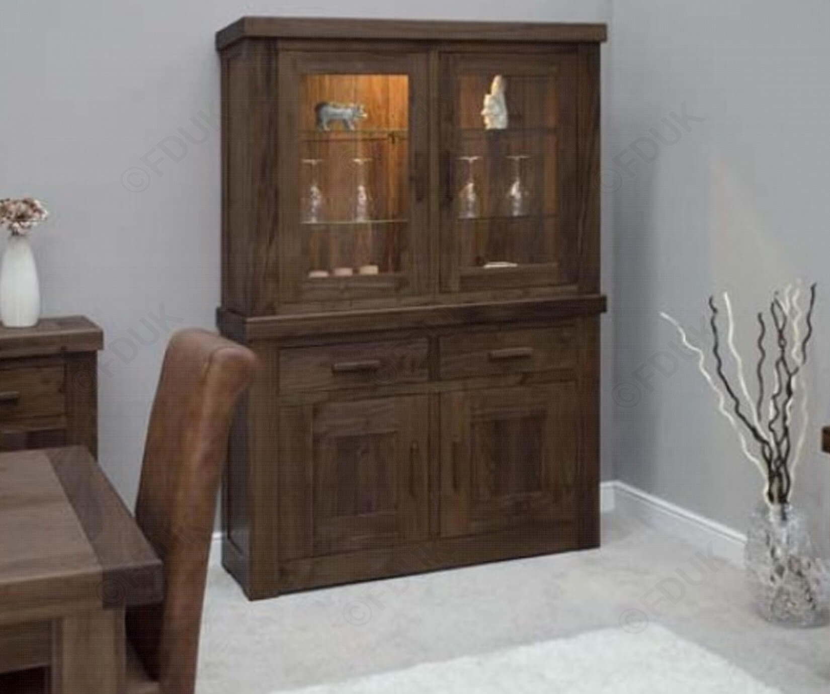 Homestyle Gb | Walnut Small Top For Sideboard | Furnituredirectuk within Walnut Small Sideboards (Image 11 of 30)