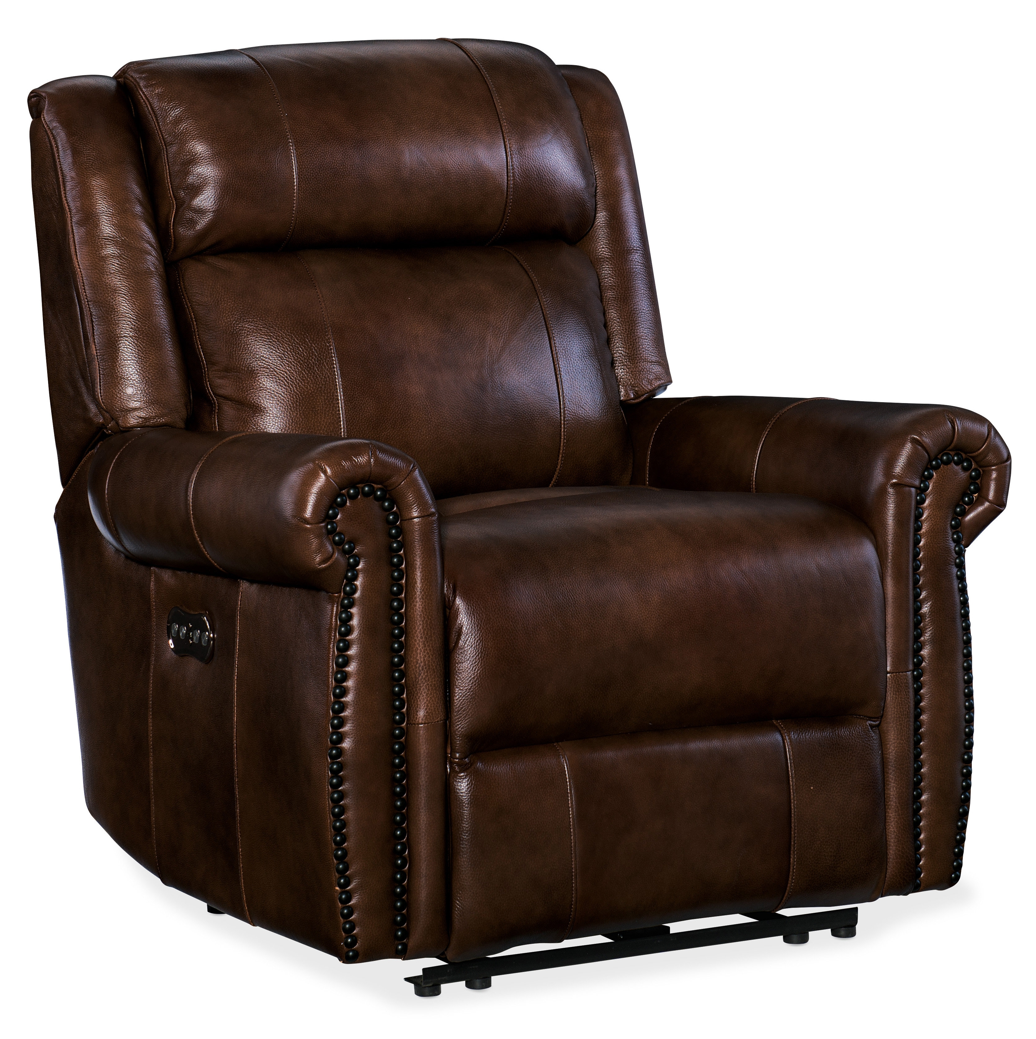 Hooker Furniture Esme Leather Power Recliner With Power Headrest within Clyde Grey Leather 3 Piece Power Reclining Sectionals With Pwr Hdrst & Usb (Image 14 of 30)