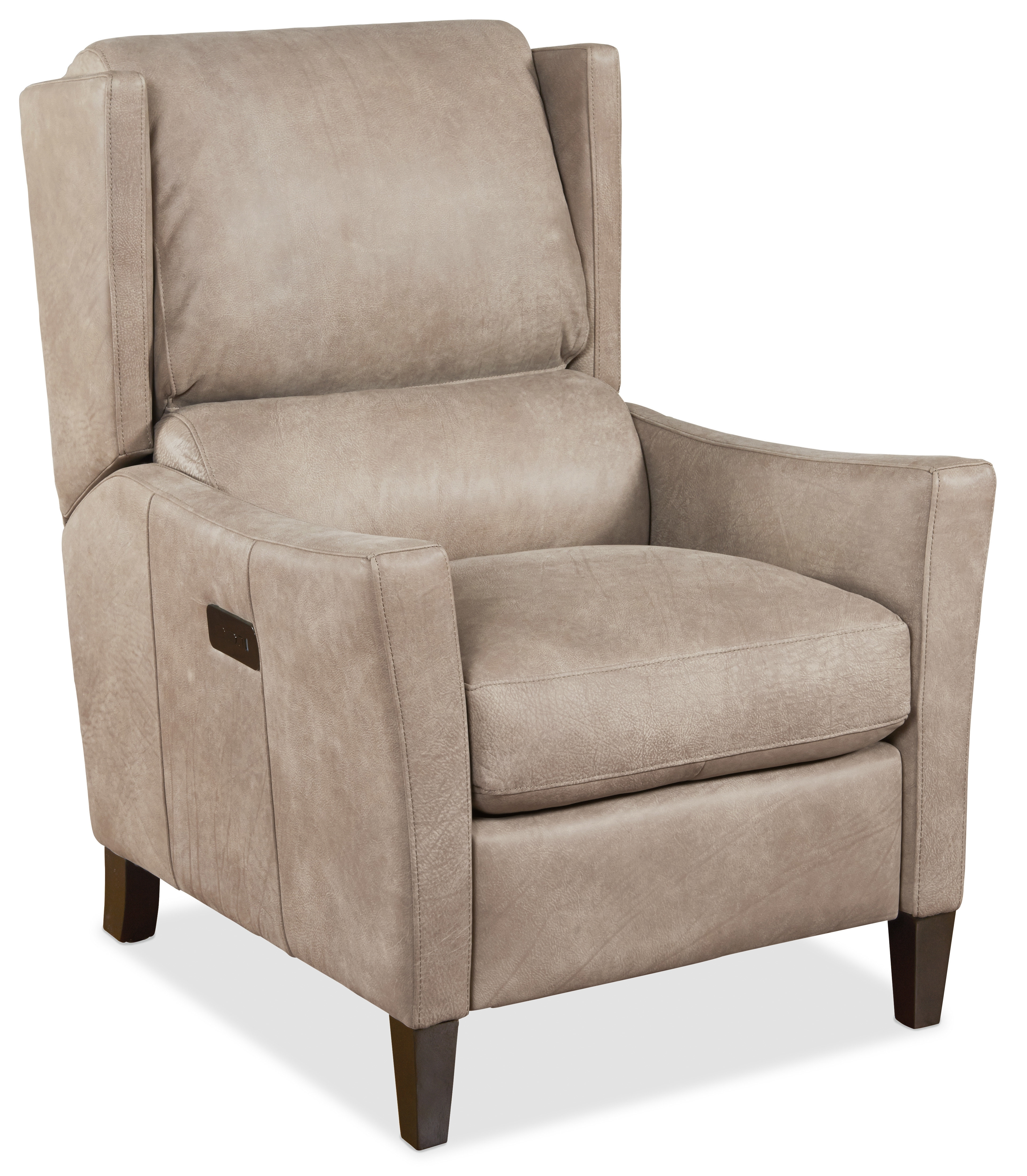 Hooker Furniture Larkin Leather Power Recliner | Wayfair regarding Clyde Grey Leather 3 Piece Power Reclining Sectionals With Pwr Hdrst & Usb (Image 15 of 30)
