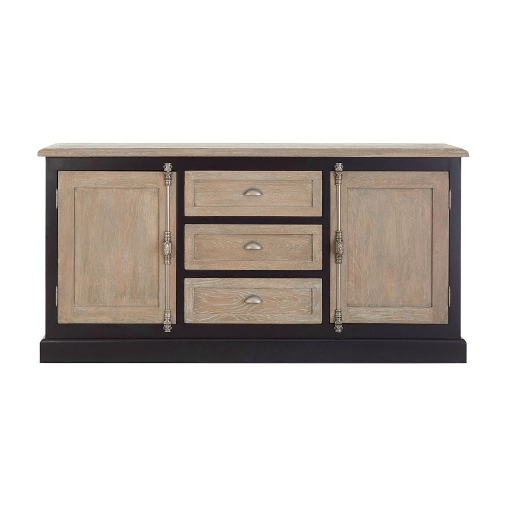 Houseology Collection Kensington 2 Door 3 Drawer Sideboard Birch within 3-Drawer/2-Door Sideboards (Image 13 of 30)